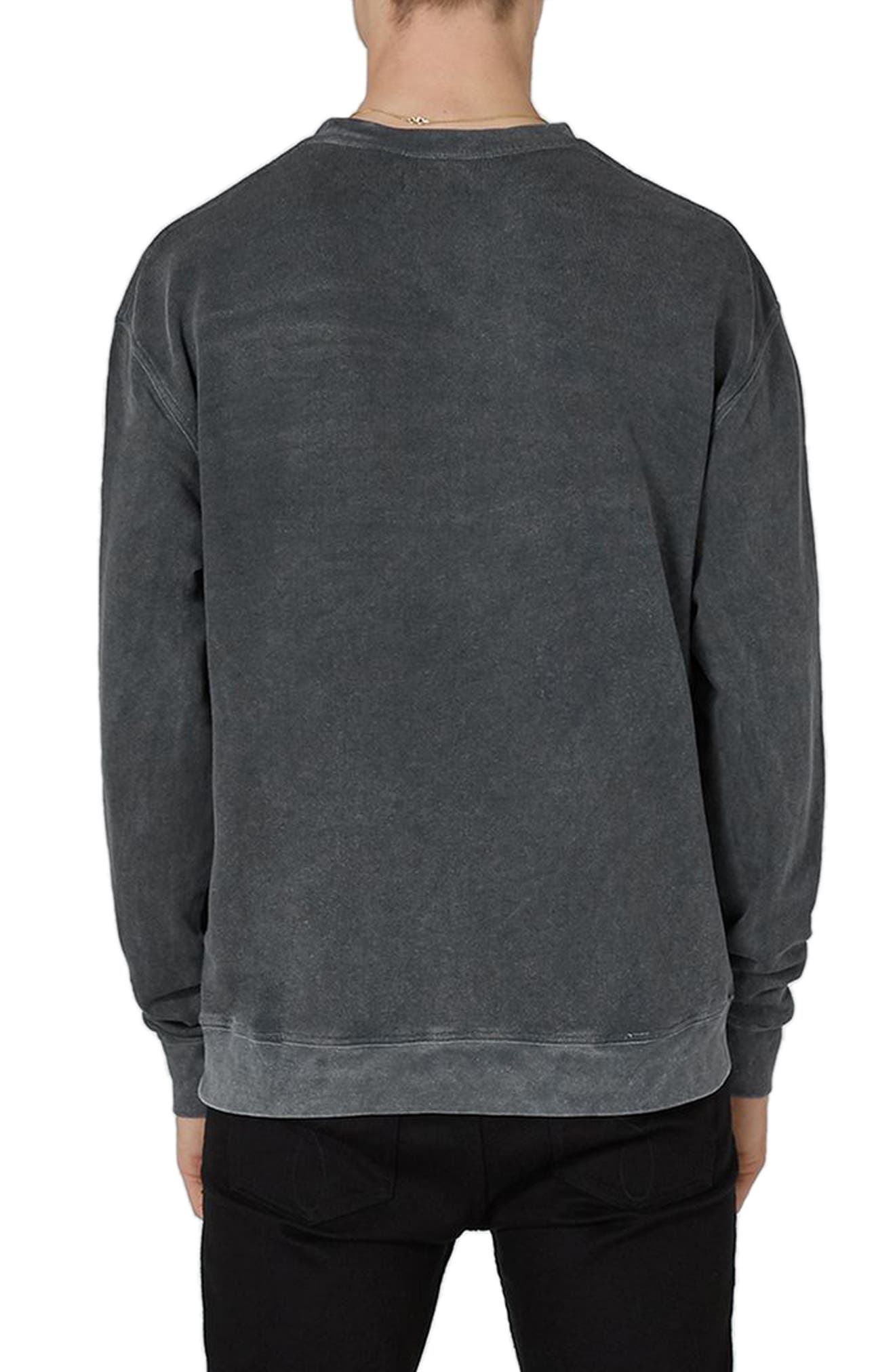 Percy Rose Embroidered Sweatshirt,                             Alternate thumbnail 2, color,                             Grey