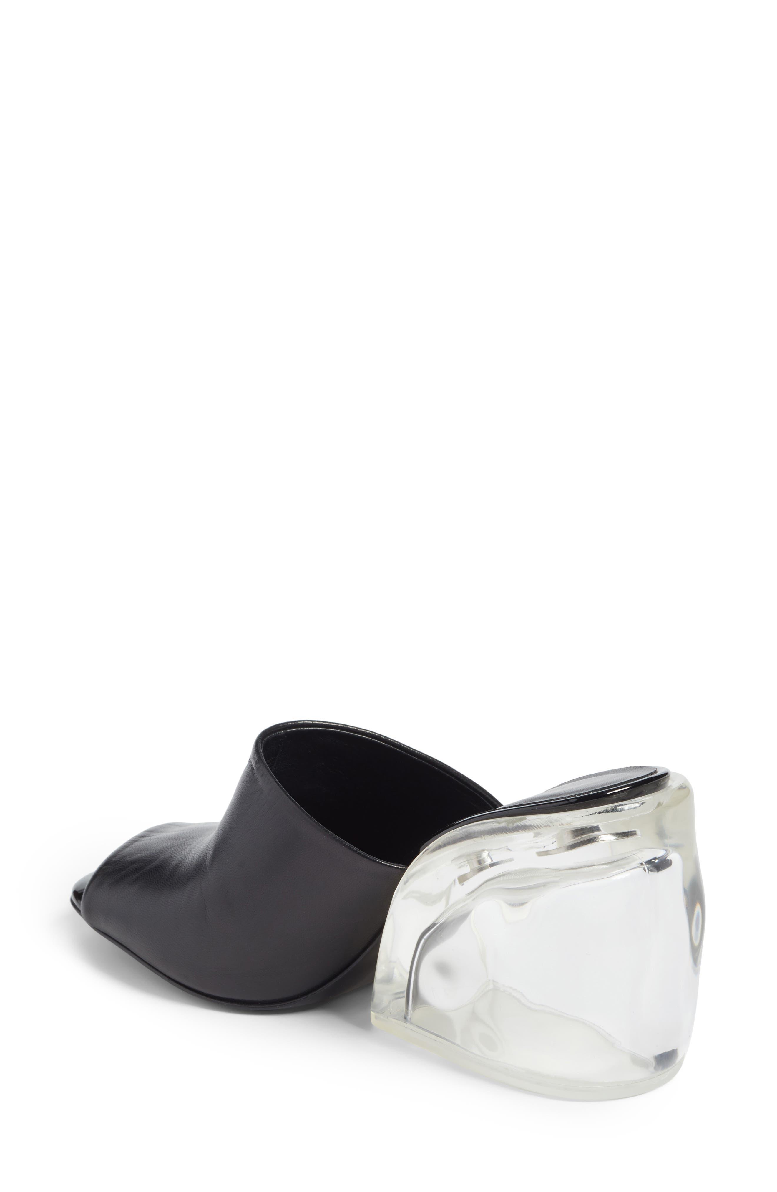Transparent Wedge Slide Sandal,                             Alternate thumbnail 2, color,                             Black