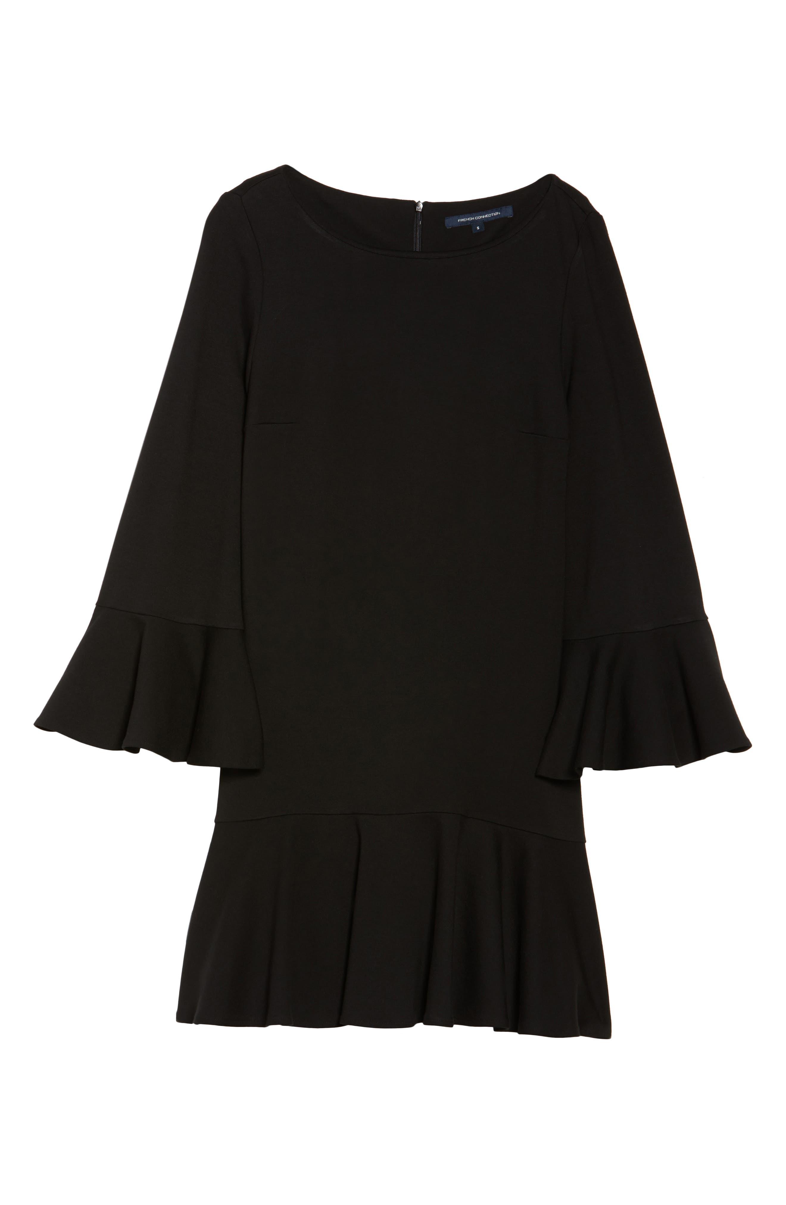 Matuku Lula Bell Sleeve Dress,                             Alternate thumbnail 6, color,                             Black