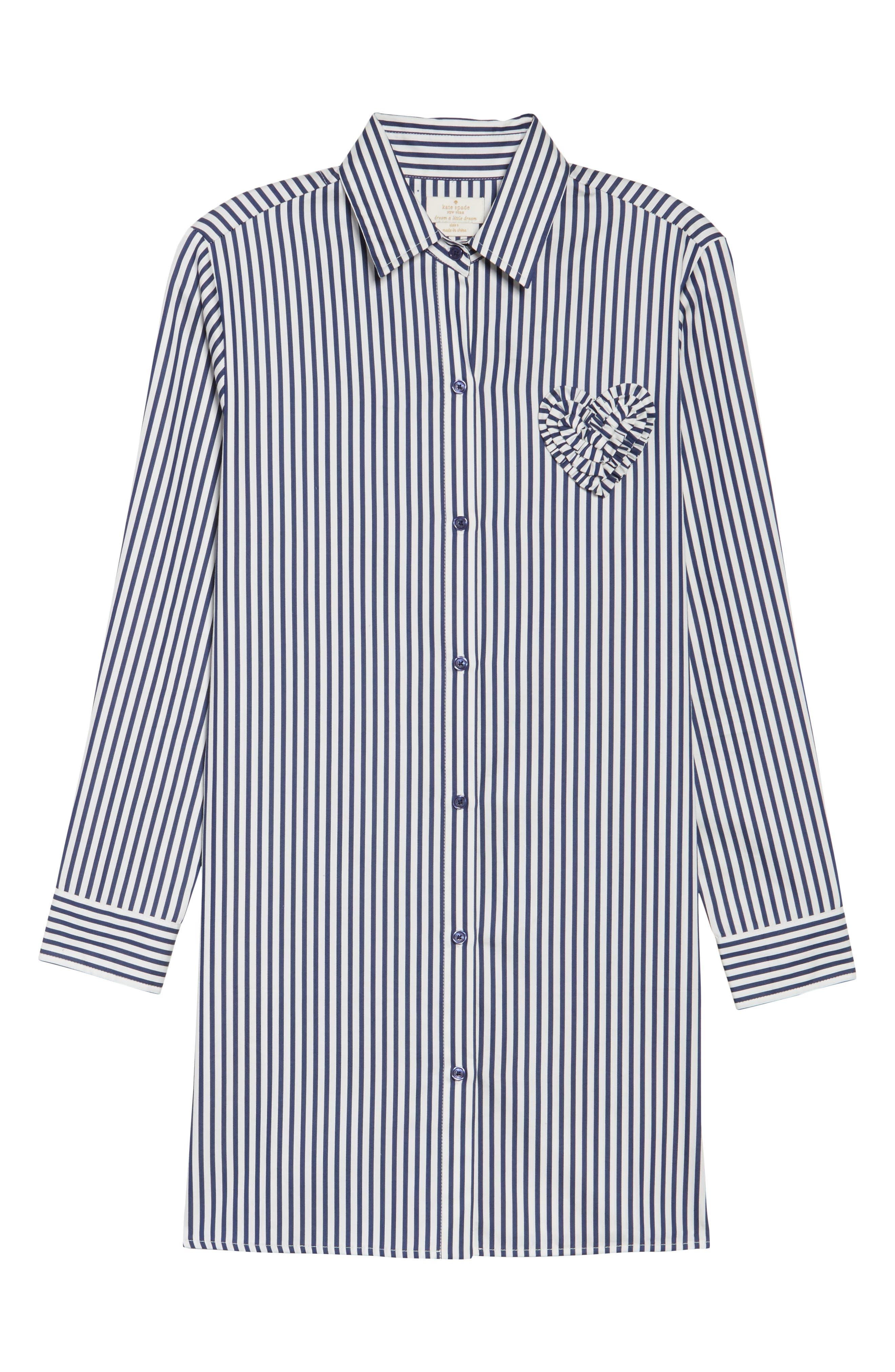 stripe sleep shirt,                             Alternate thumbnail 6, color,                             Navy Stripe