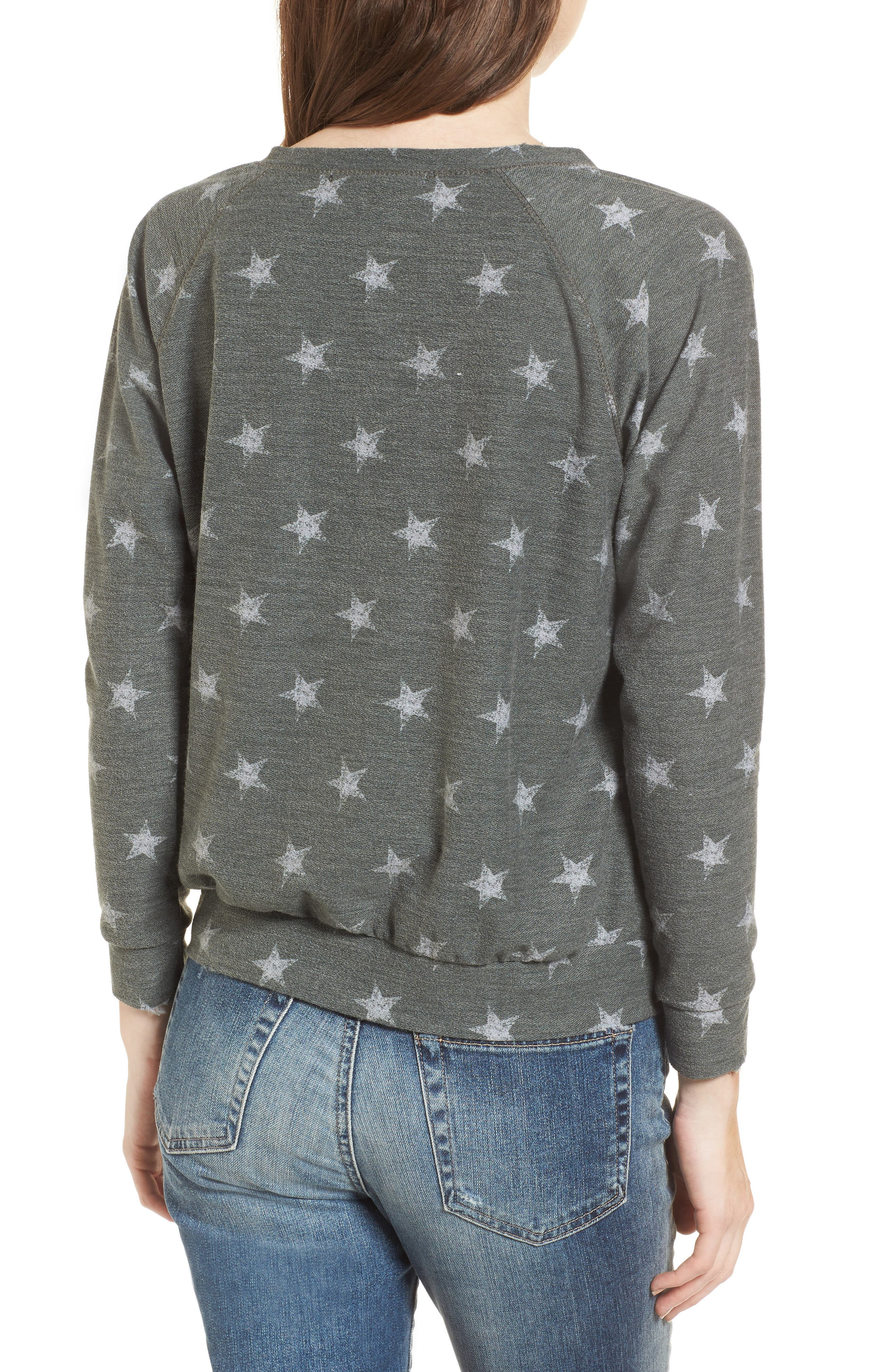 All Over Stars Pullover,                             Alternate thumbnail 2, color,                             Olive