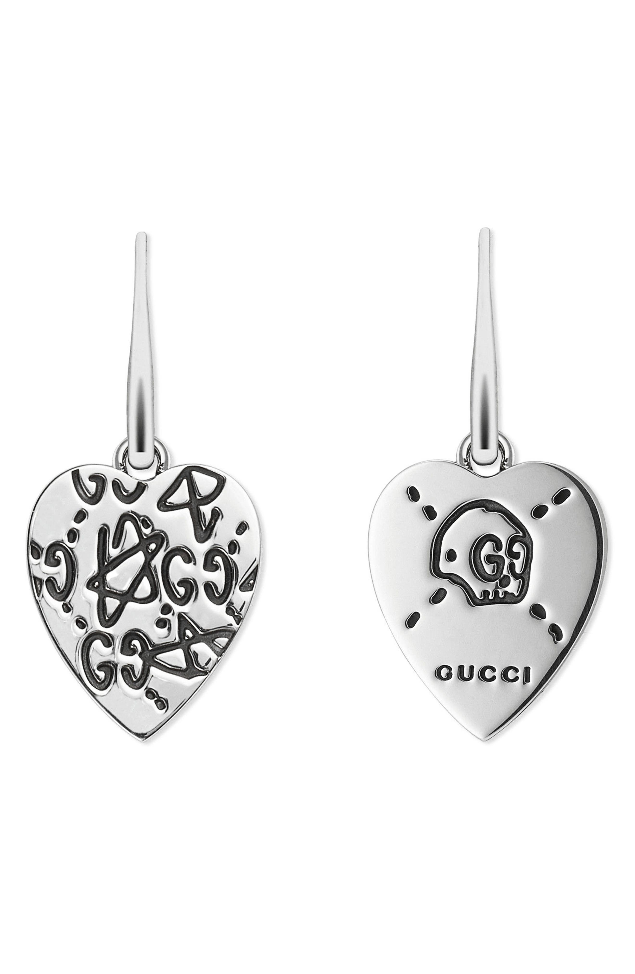 Gucci Silver GucciGhost Drop Earrings