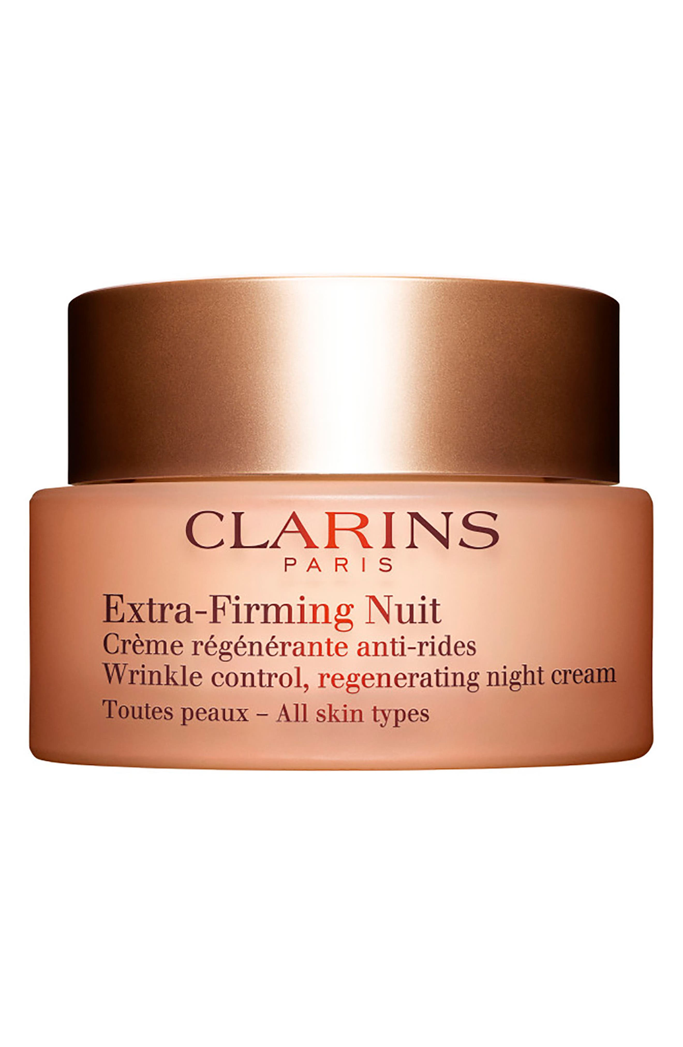 Main Image - Clarins Extra-Firming Wrinkle Control Regenerating Night Cream for All Skin Types