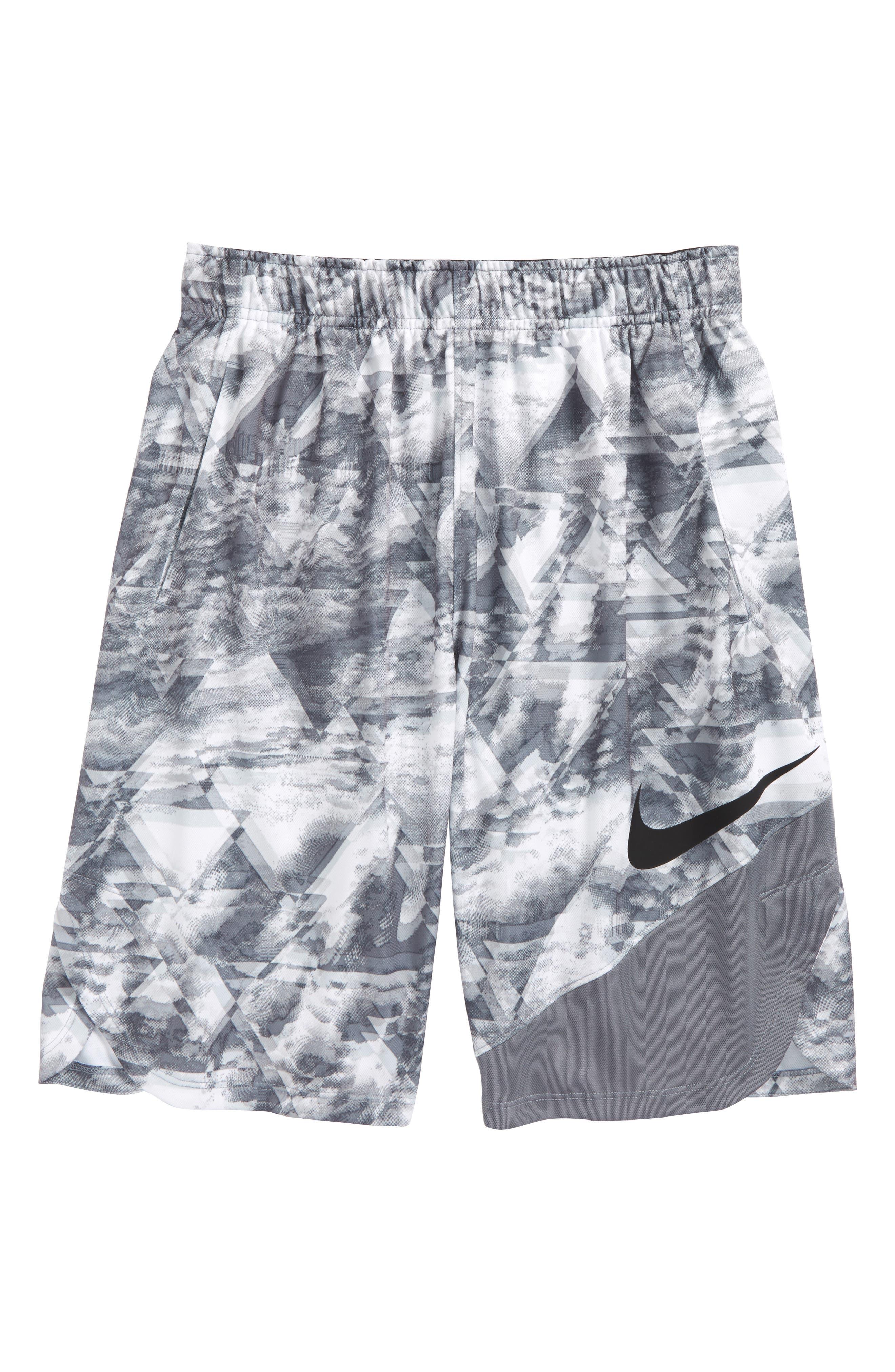 Main Image - Nike Dry Vent Print Training Shorts (Little Boys & Big Boys)