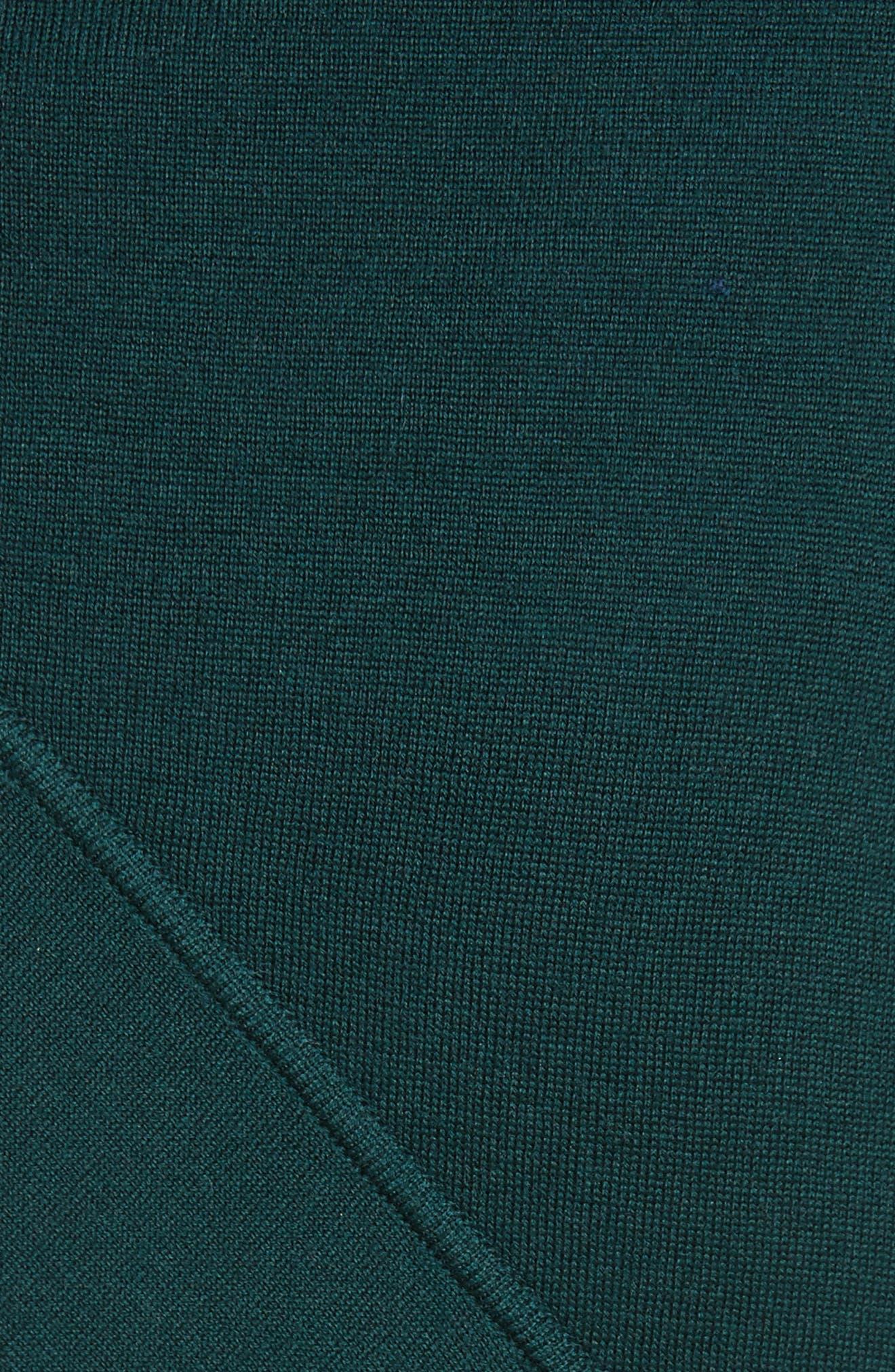 Reversible Asymmetrical Knit Midi Skirt,                             Alternate thumbnail 8, color,                             Ivy/ Lapis
