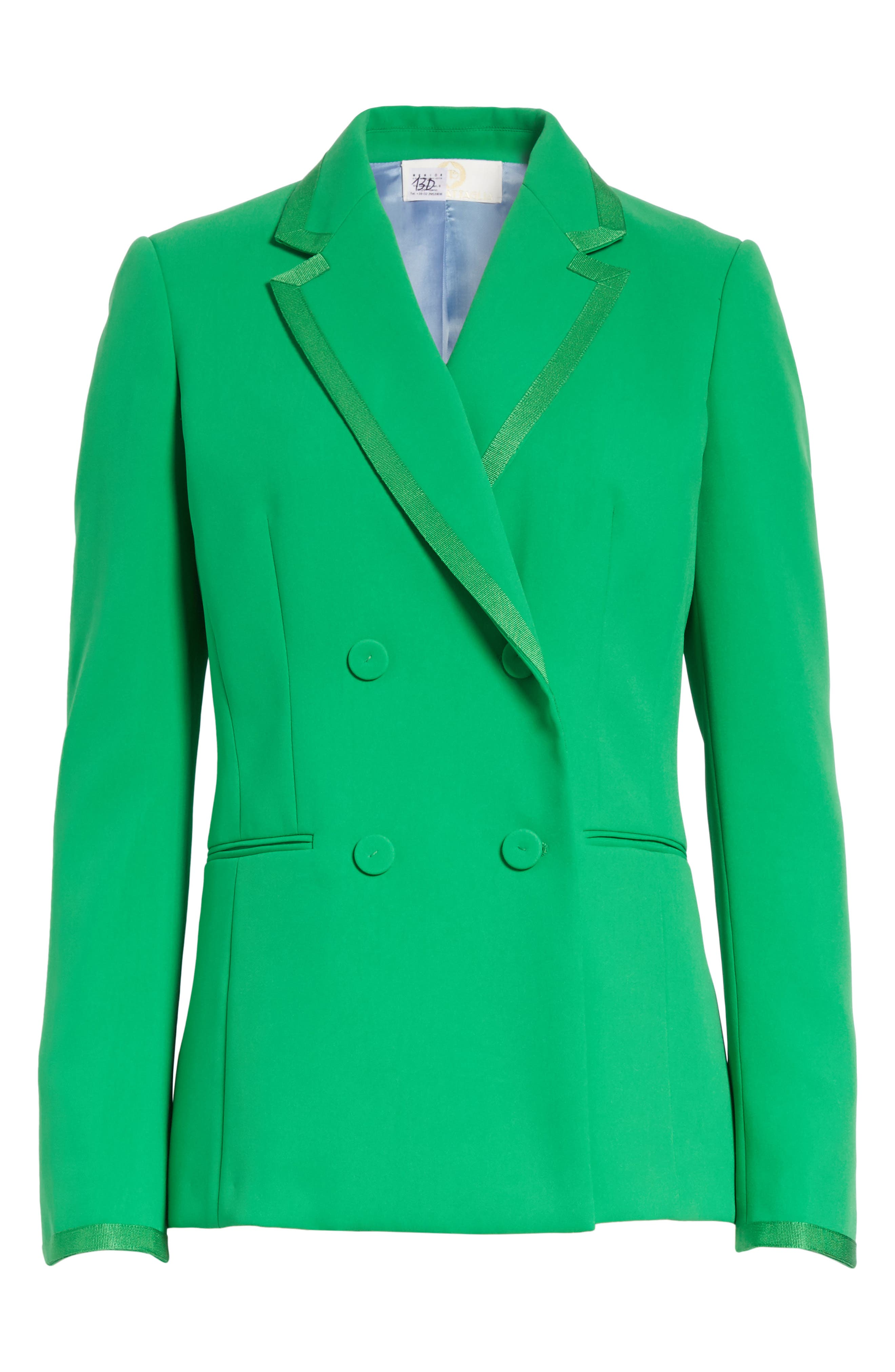 Double Breasted Blazer,                             Alternate thumbnail 8, color,                             Green