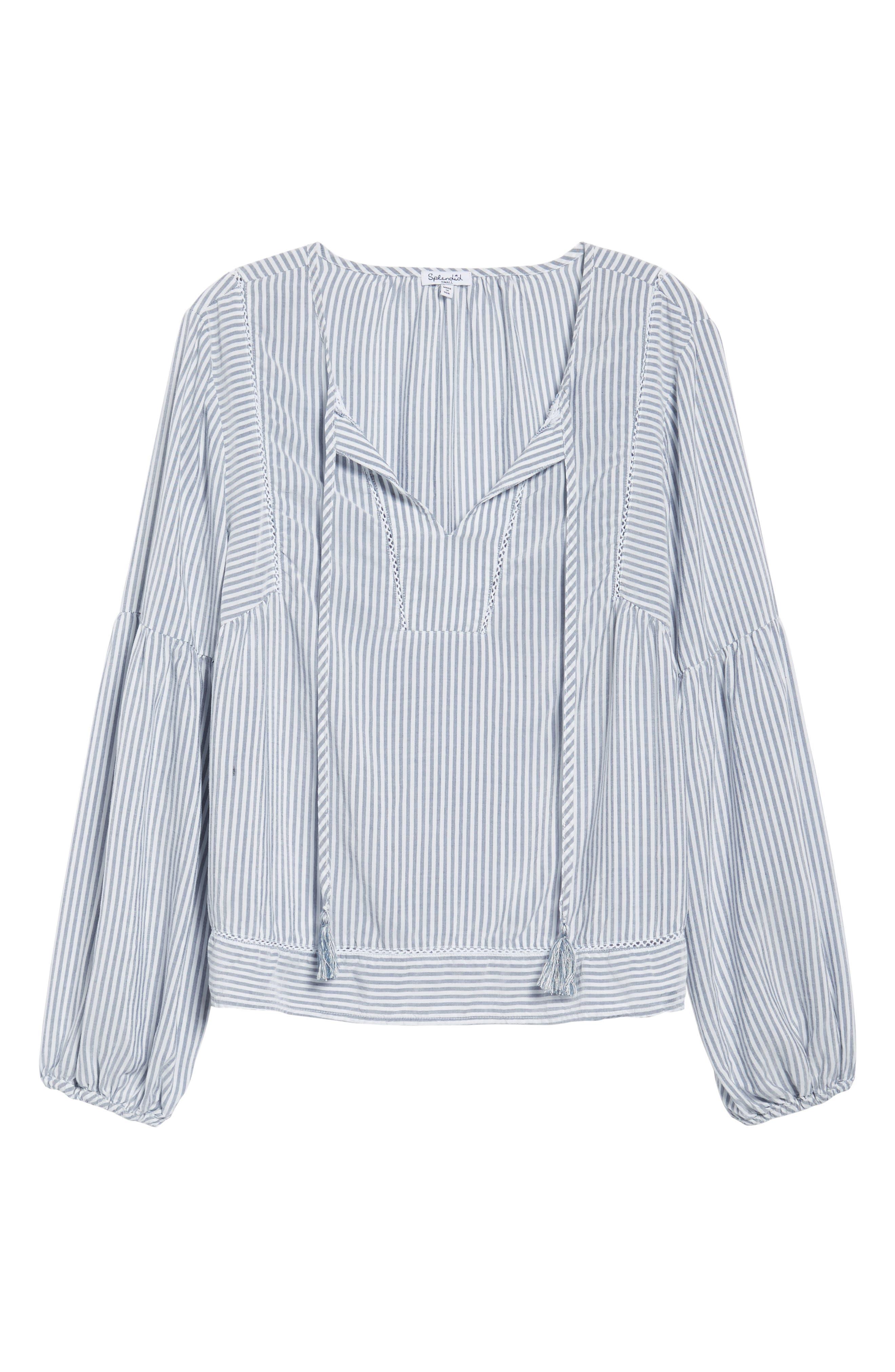Tassel Shirt,                             Alternate thumbnail 6, color,                             Med Wash