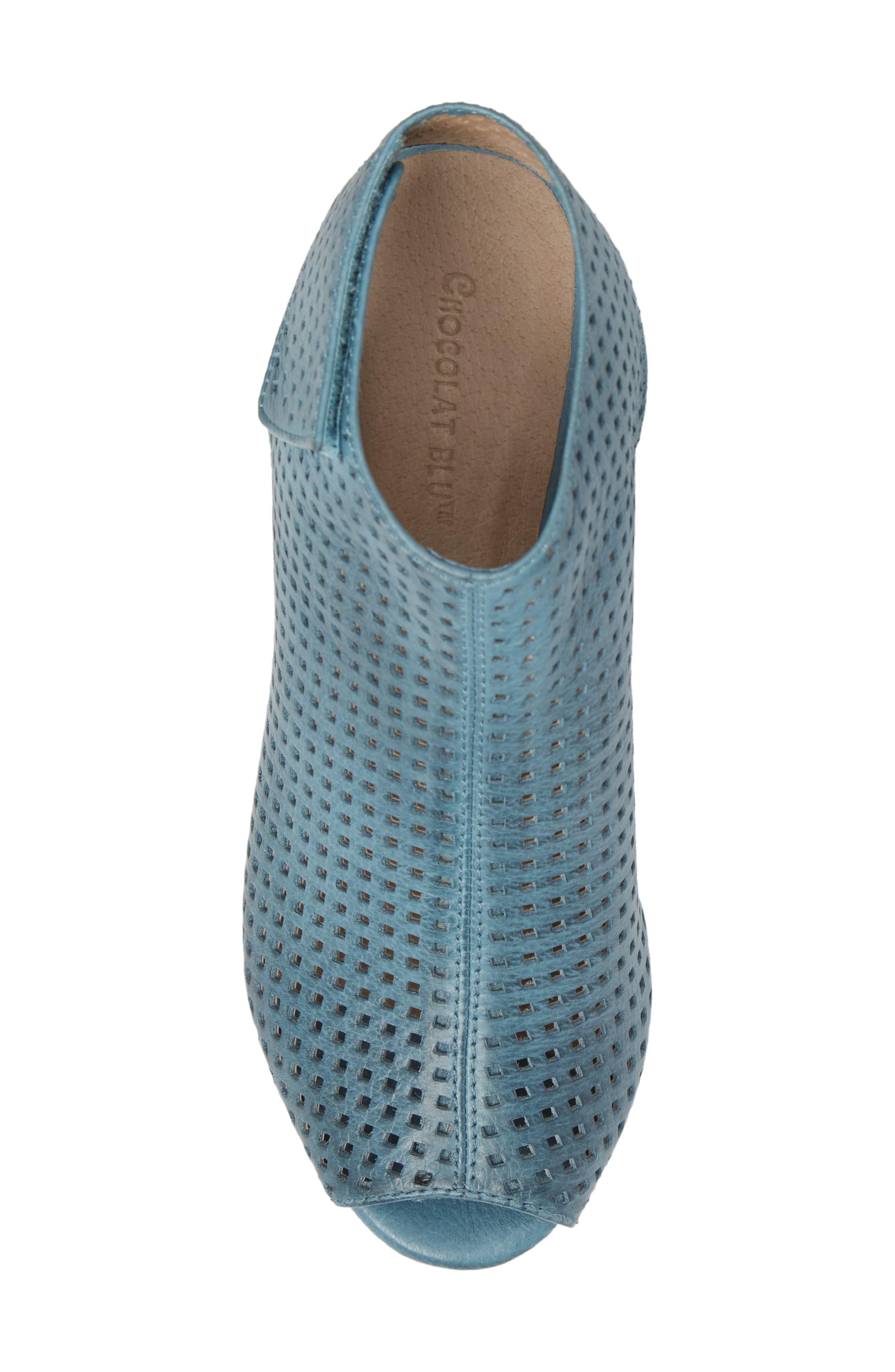 Alternate Image 5  - Chocolat Blu Wing Perforated Platform Wedge (Women)