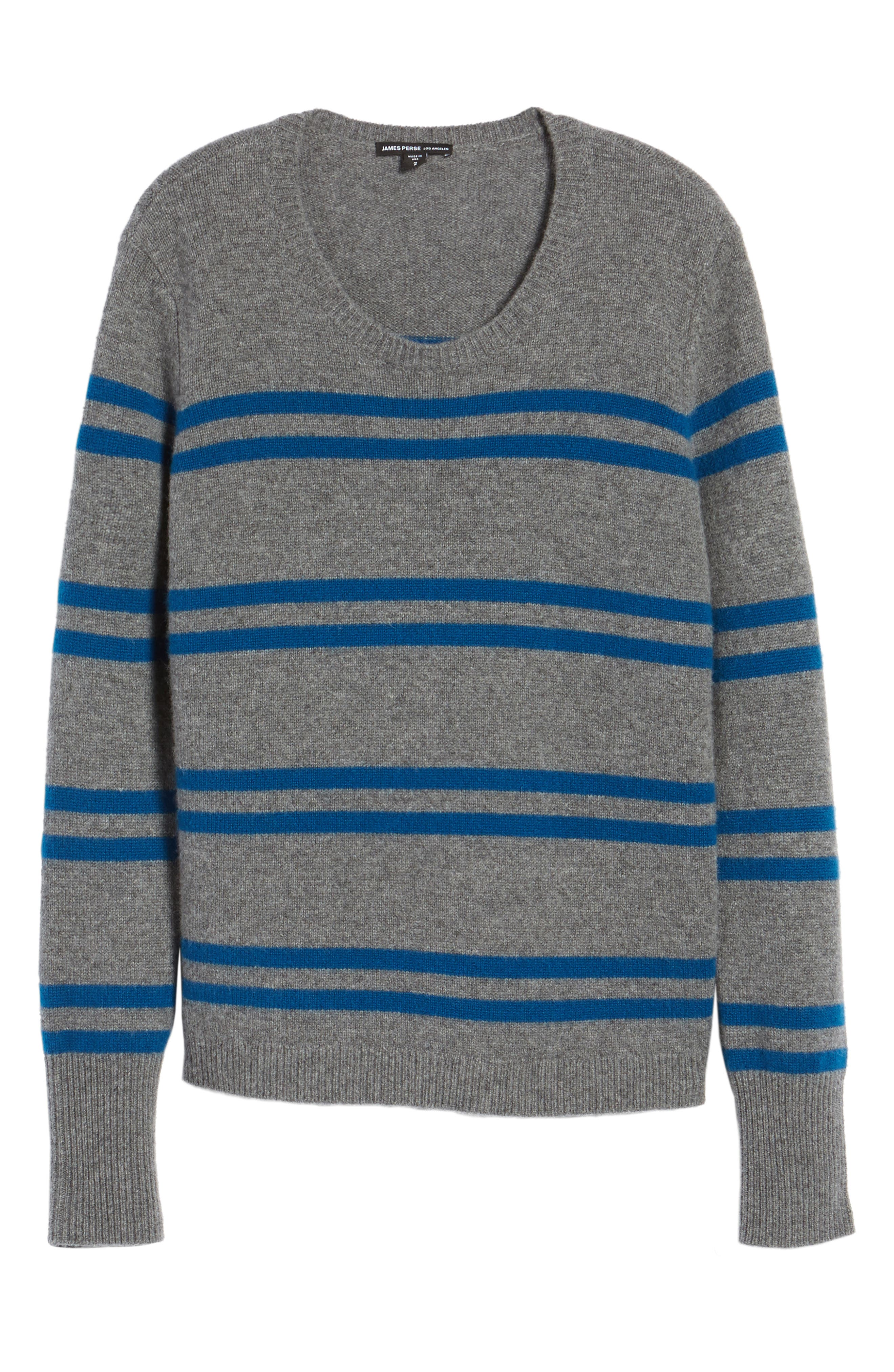 Alternate Image 6  - James Perse Stripe Cashmere Sweatshirt