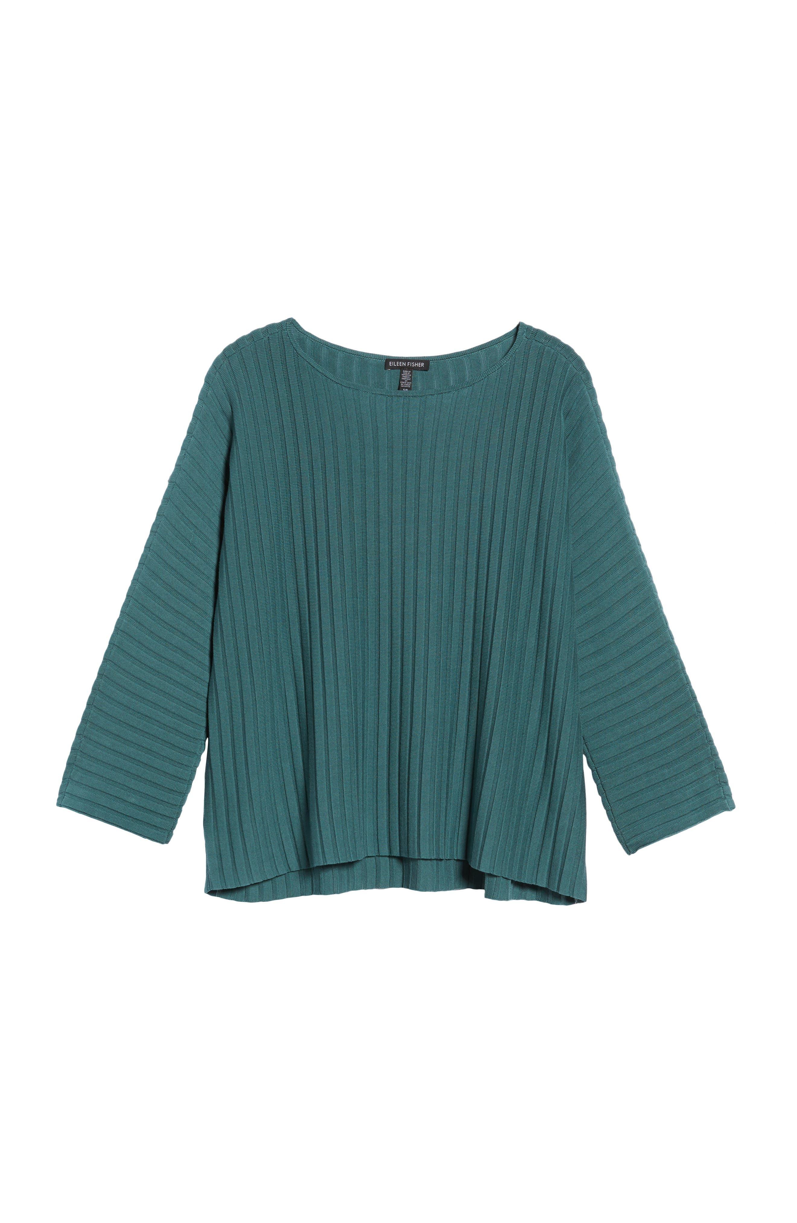 Alternate Image 6  - Eileen Fisher Ribbed Bateau Neck Sweater