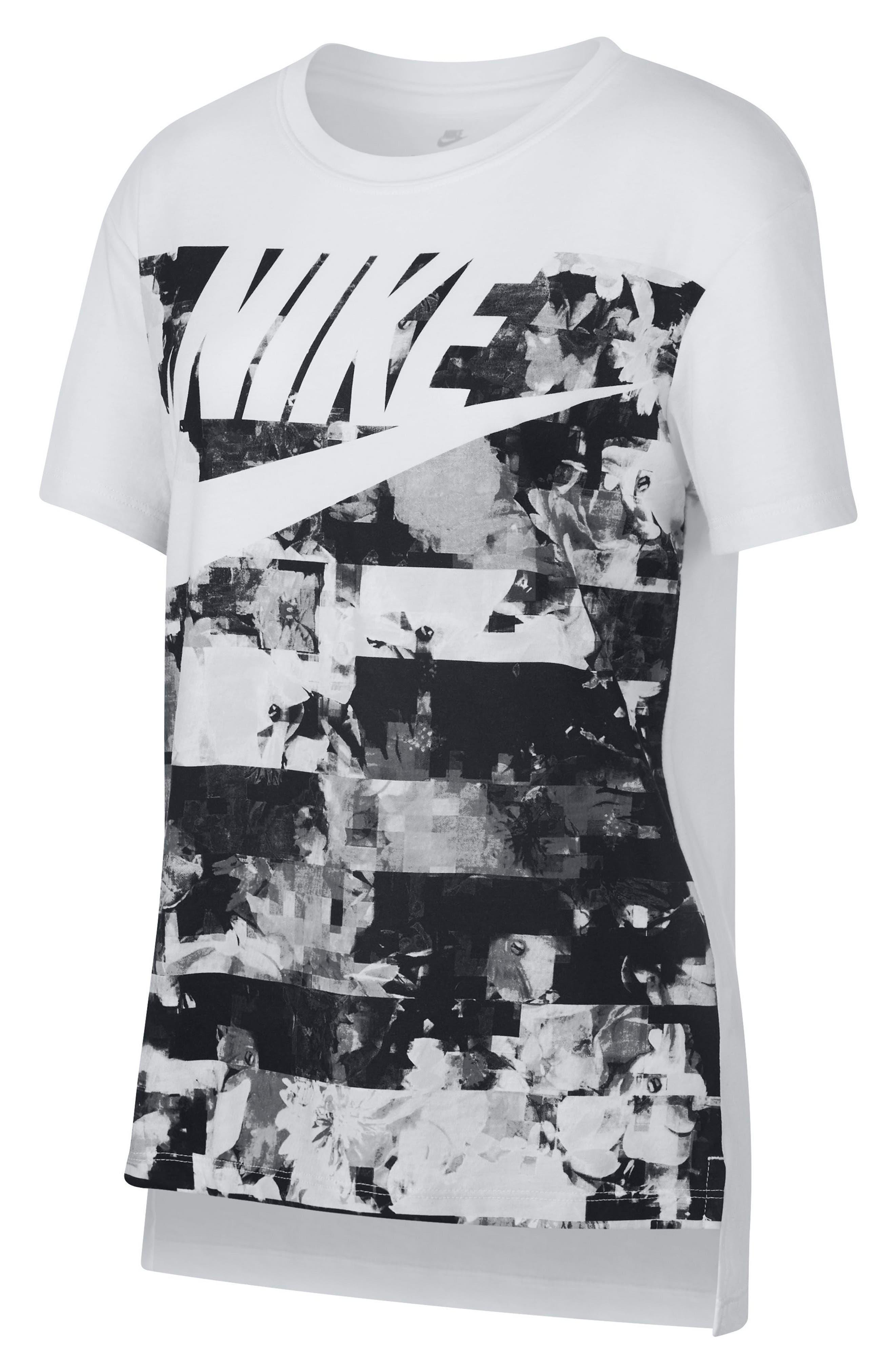 Alternate Image 1 Selected - Nike Hyperfade Graphic Tee (Big Girls)