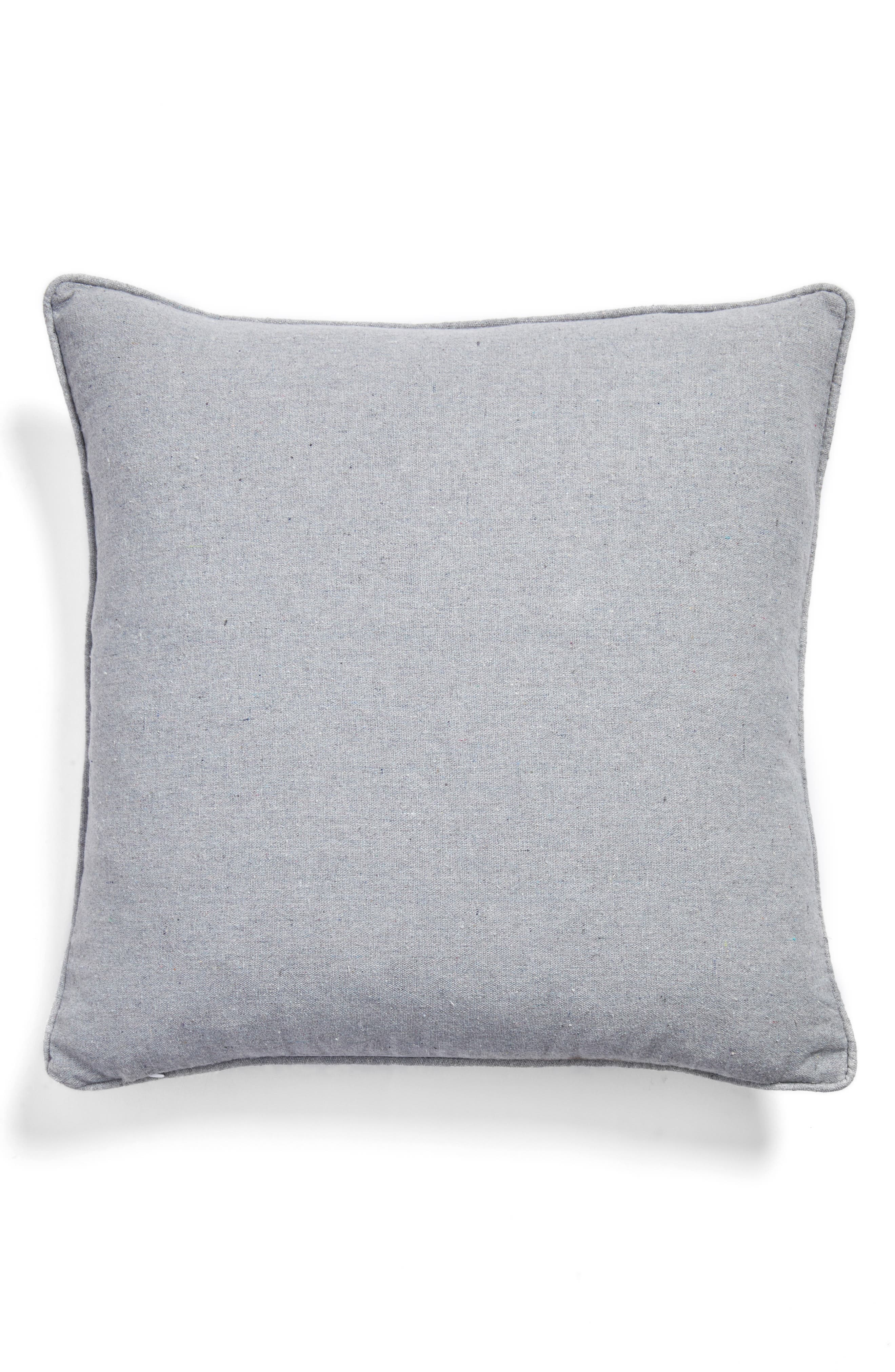 Don't Hate Meditate Pillow,                             Alternate thumbnail 3, color,                             Grey