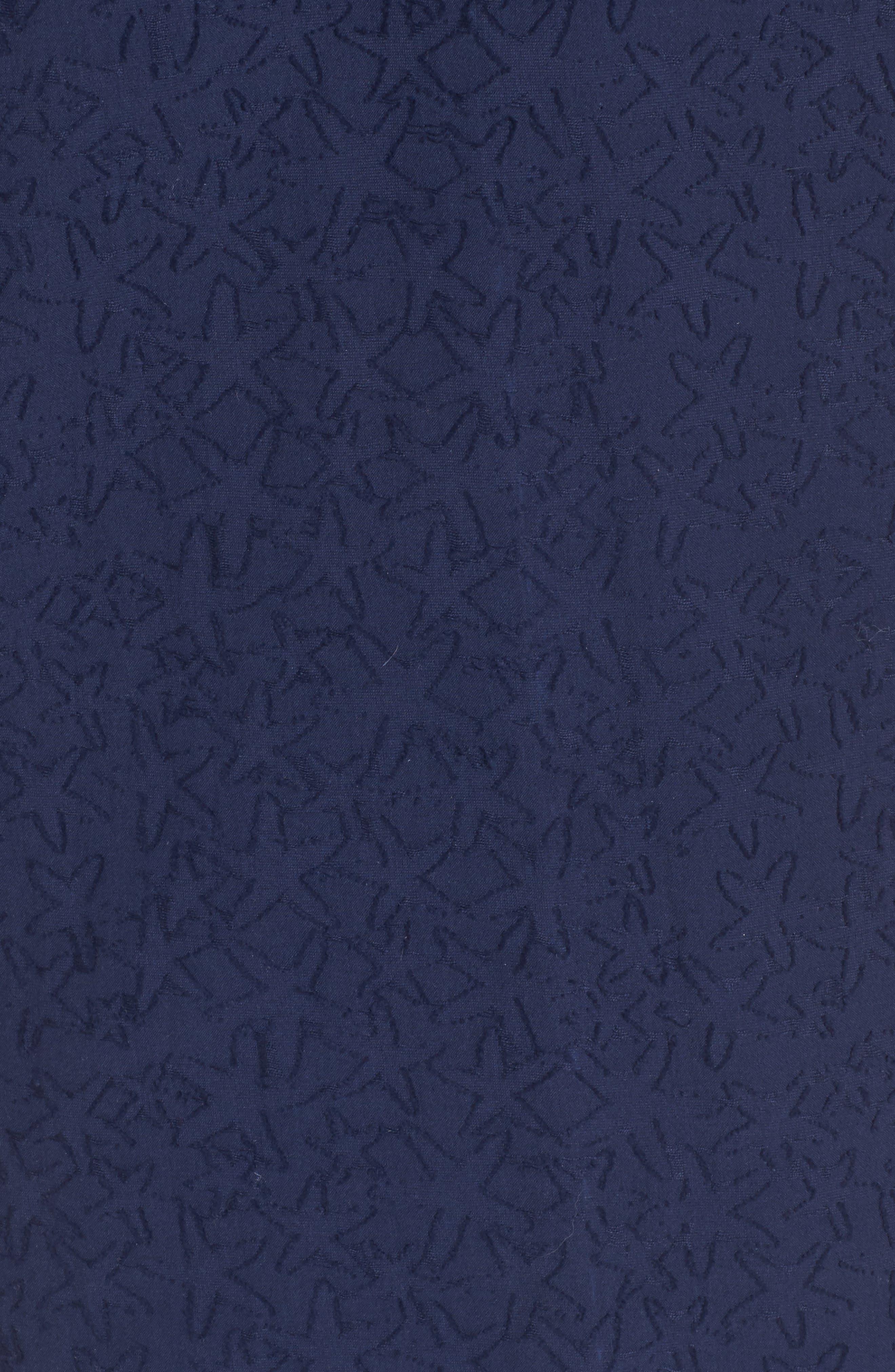 Starfish Burnout Tunic Dress,                             Alternate thumbnail 5, color,                             Deep Bay