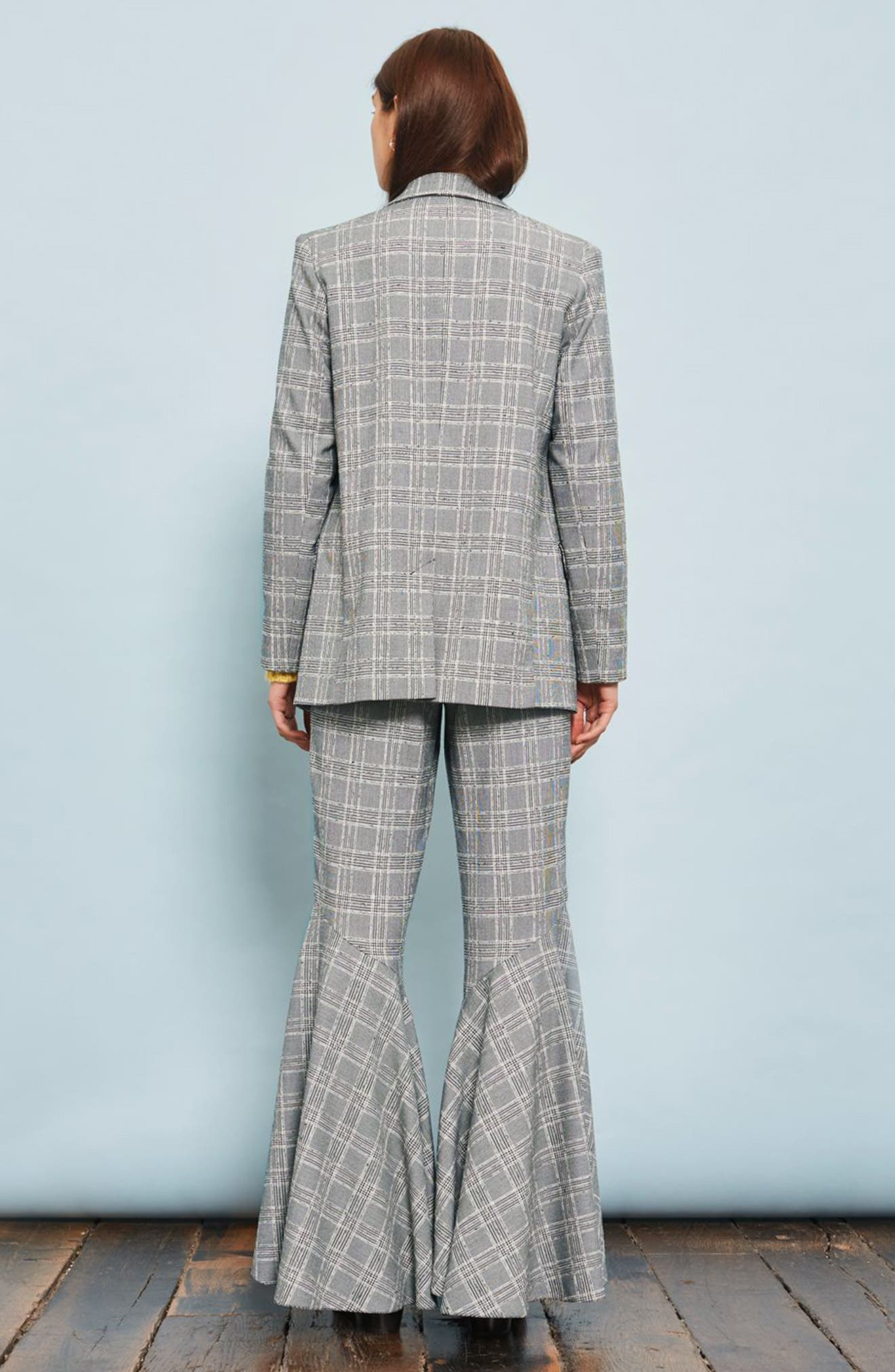 Alternate Image 3  - Topshop Checked Super Flare Trousers