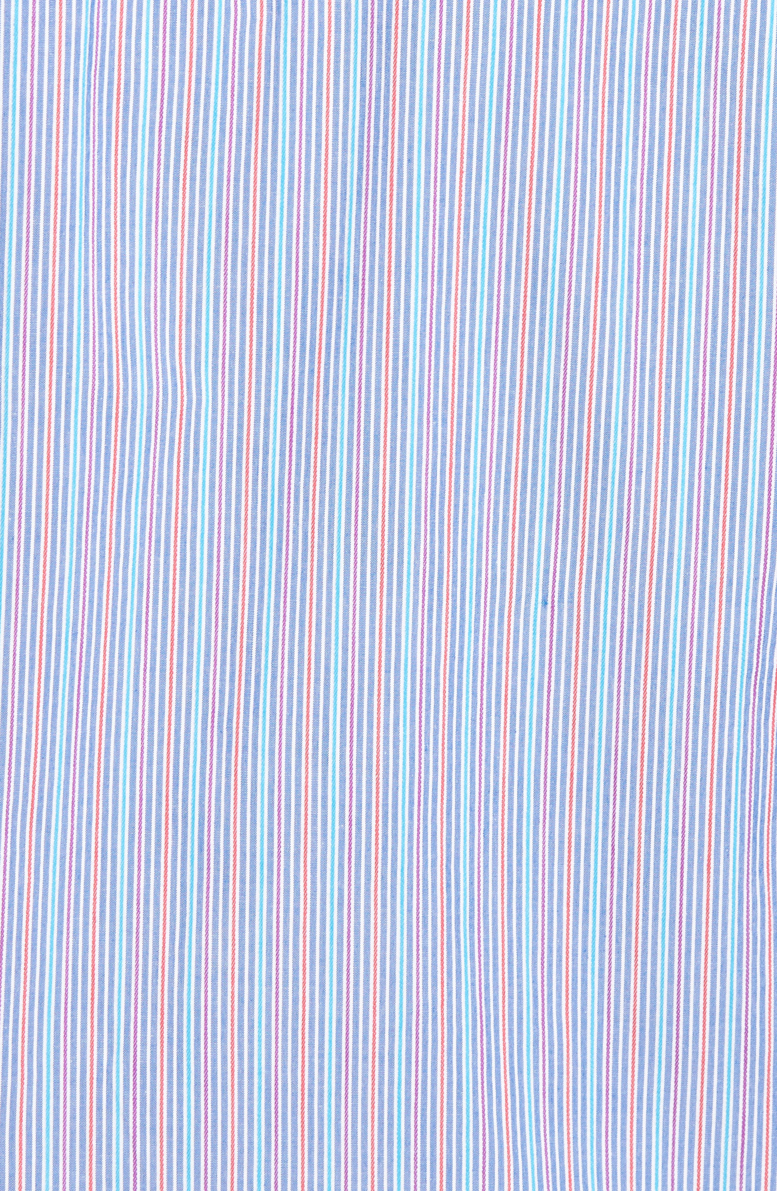 Tallahassee Cotton & Silk Blend Sport Shirt,                             Alternate thumbnail 5, color,                             Cobalt Sea