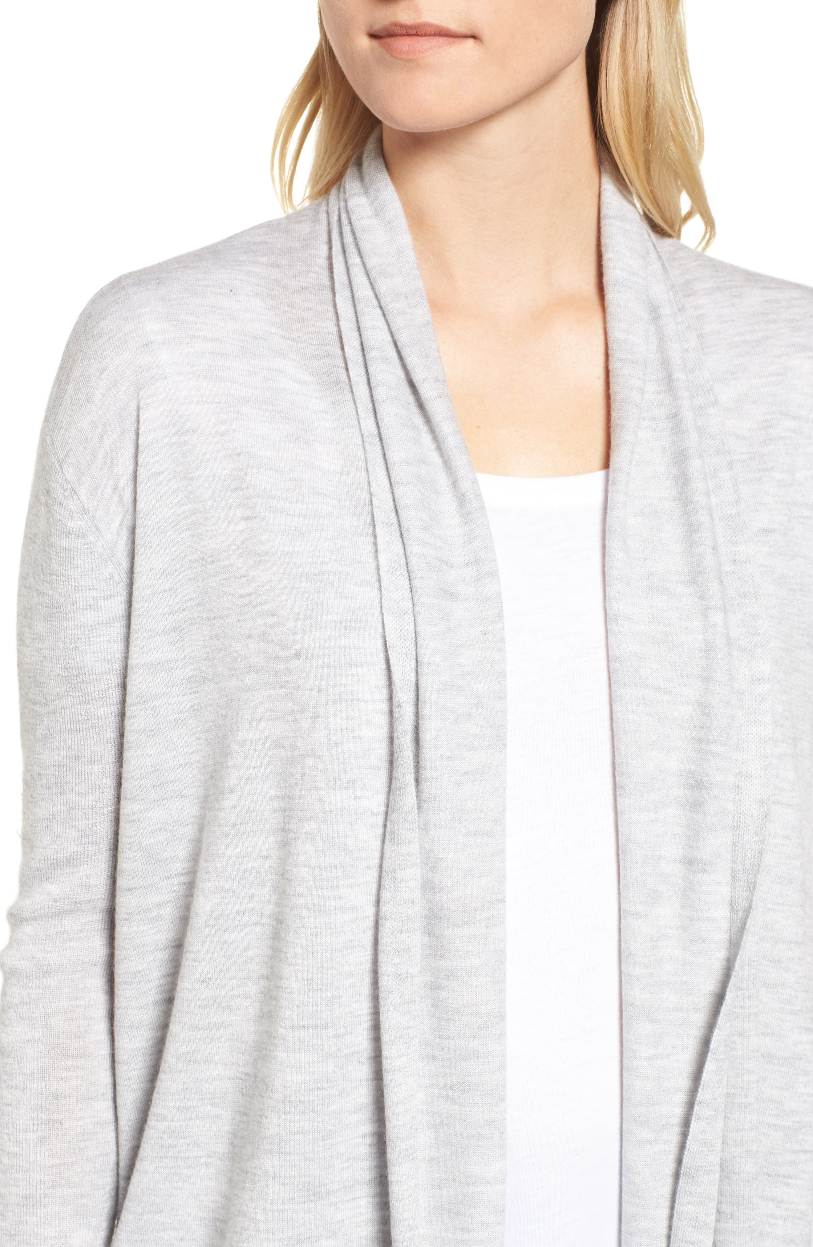 Cashmere Cardigan,                             Alternate thumbnail 4, color,                             Grey Clay Heather