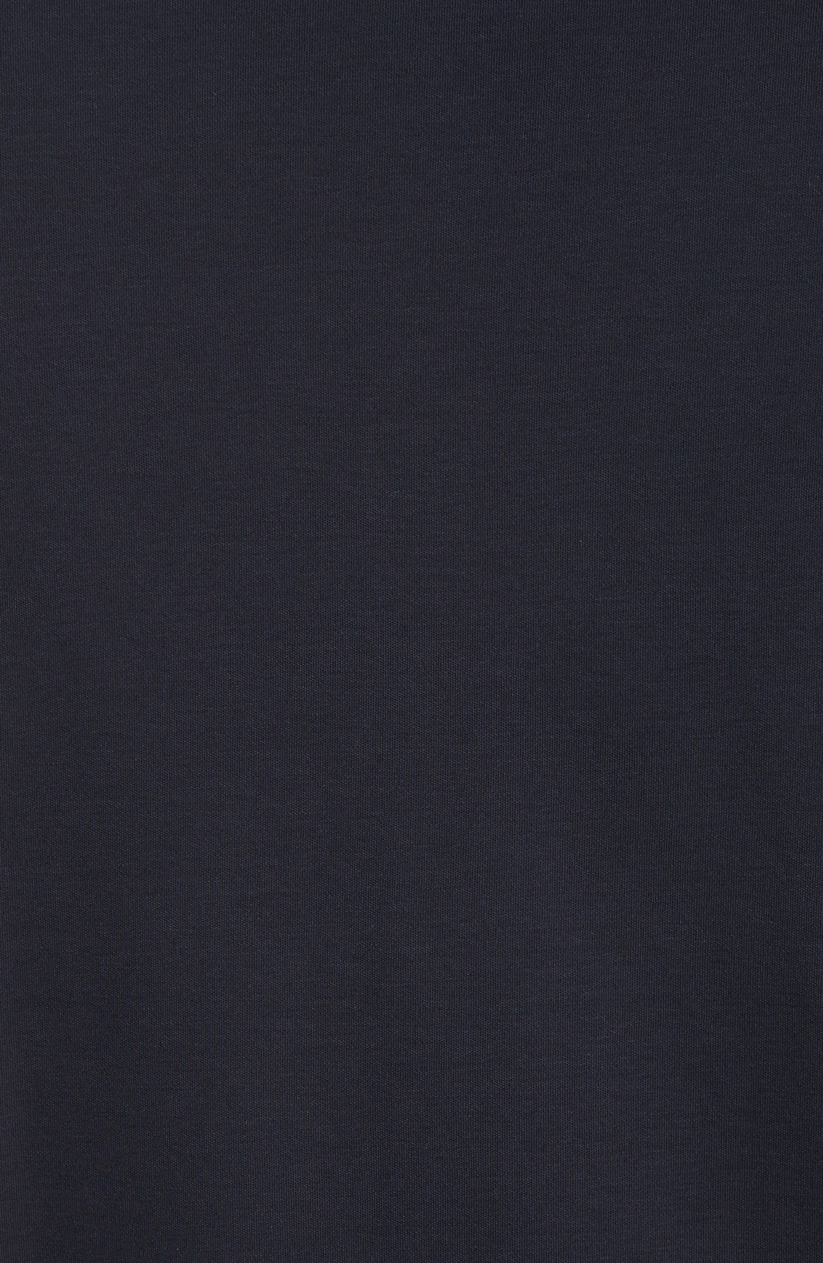 Slim Fit Cotton Knit Sport Shirt,                             Alternate thumbnail 5, color,                             Blue Navy