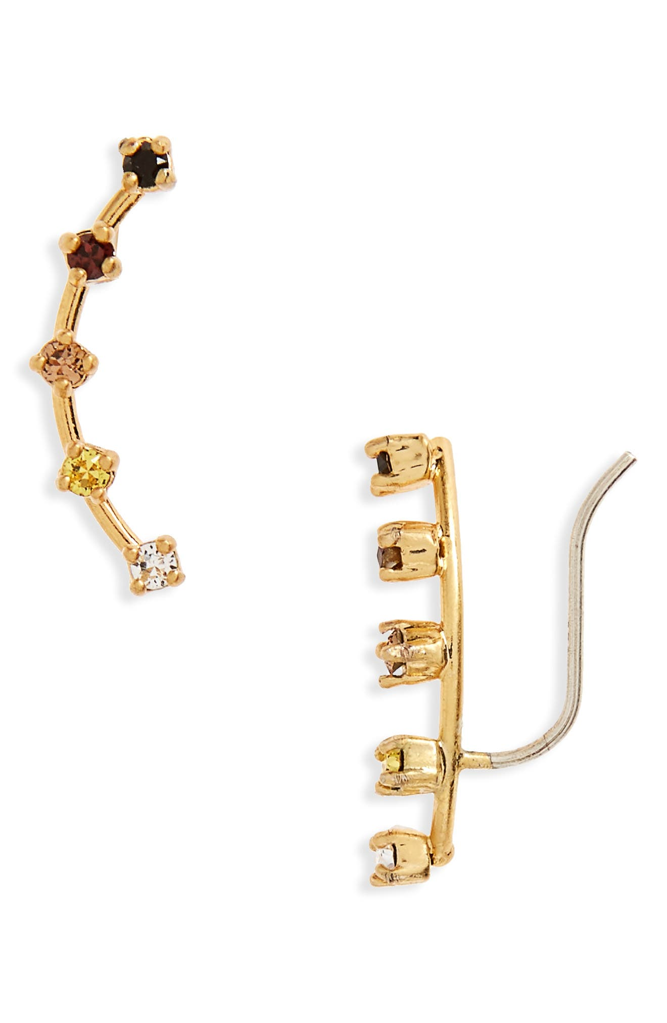 Gem Line Ear Crawlers,                         Main,                         color, Vintage Gold
