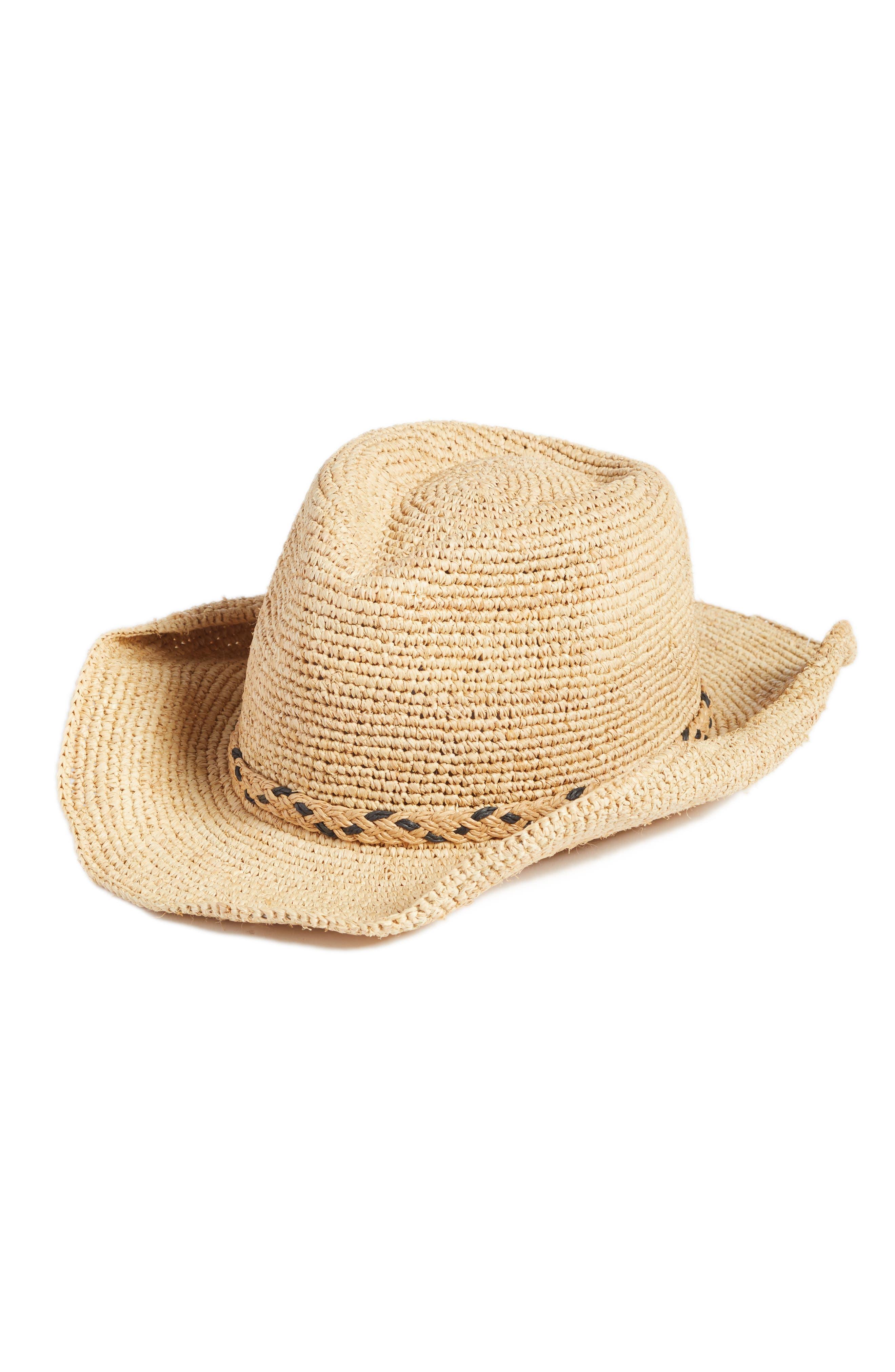 Packable Raffia Panama Hat,                             Main thumbnail 1, color,                             Natural