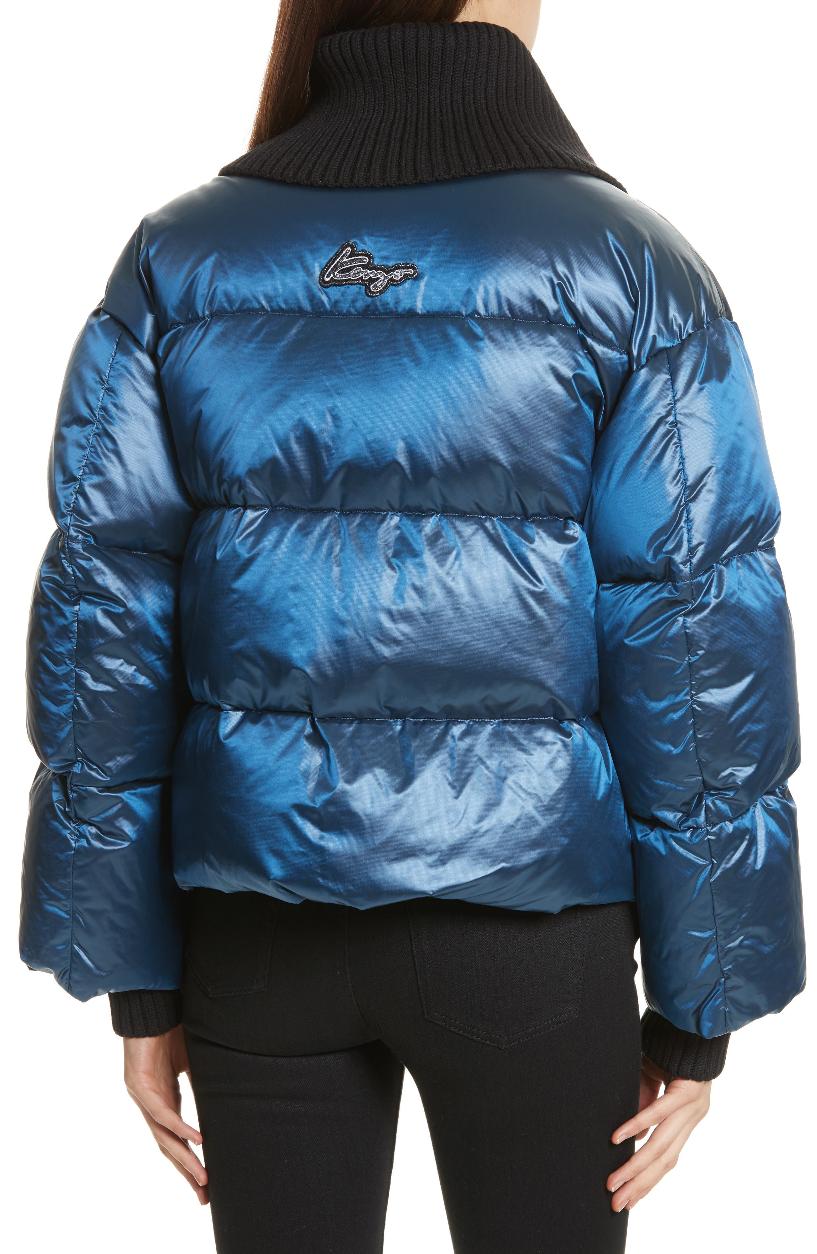Quilted Down Bomber,                             Alternate thumbnail 2, color,                             Navy Blue