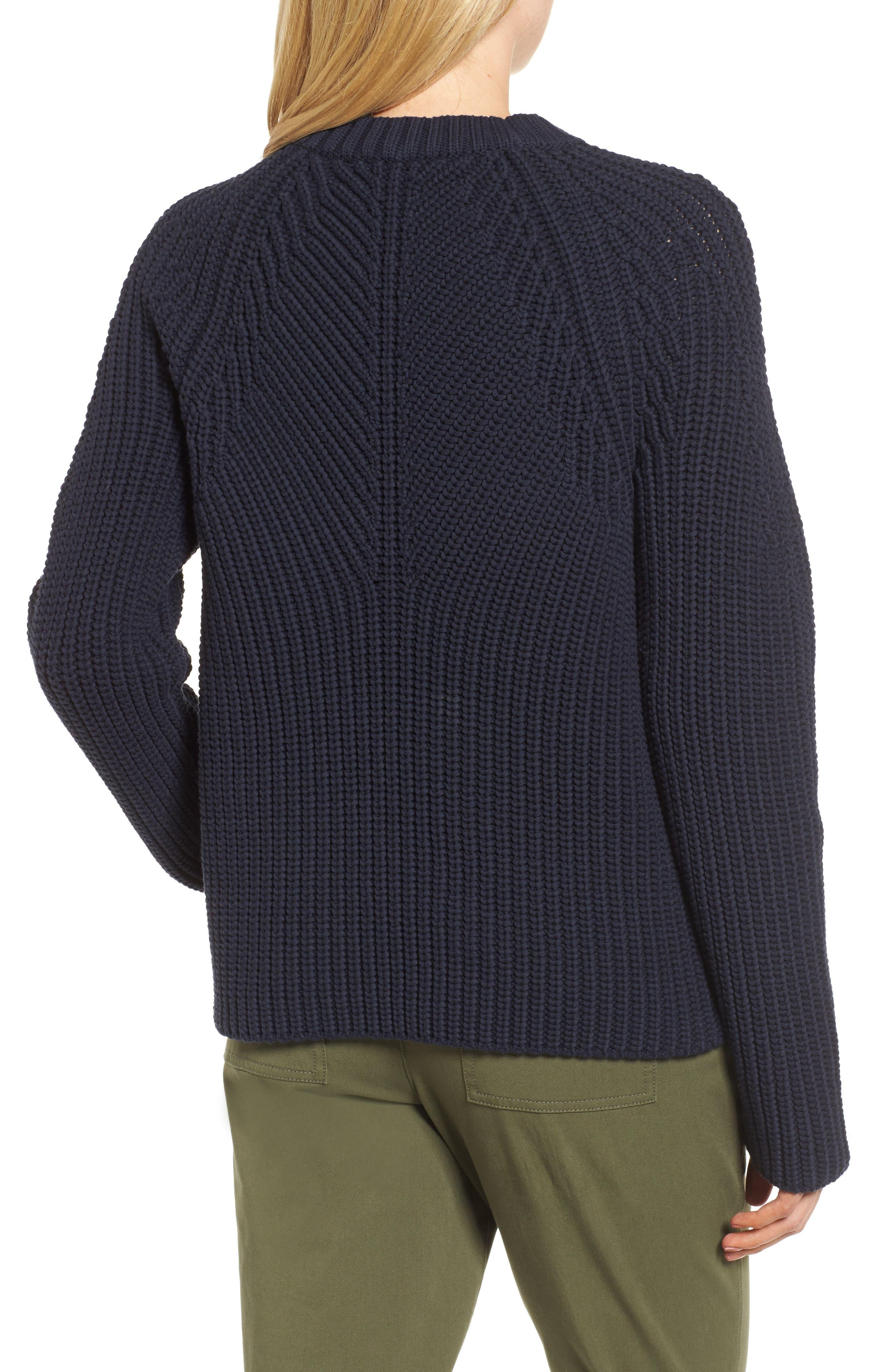 Raglan Sleeve Knit Sweater,                             Alternate thumbnail 2, color,                             Navy Night