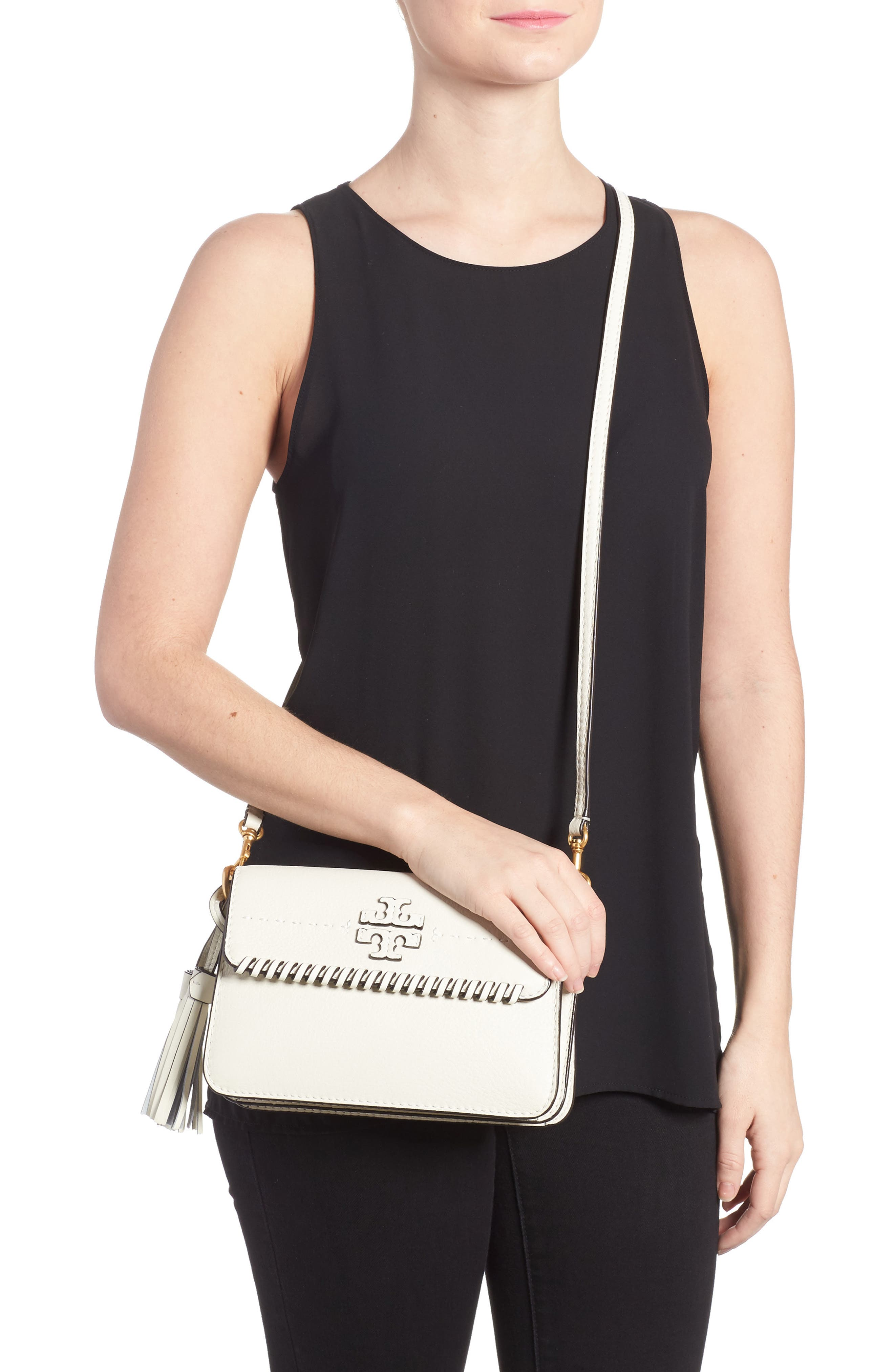 McGraw Whipstitch Leather Crossbody Bag,                             Alternate thumbnail 2, color,                             New Ivory