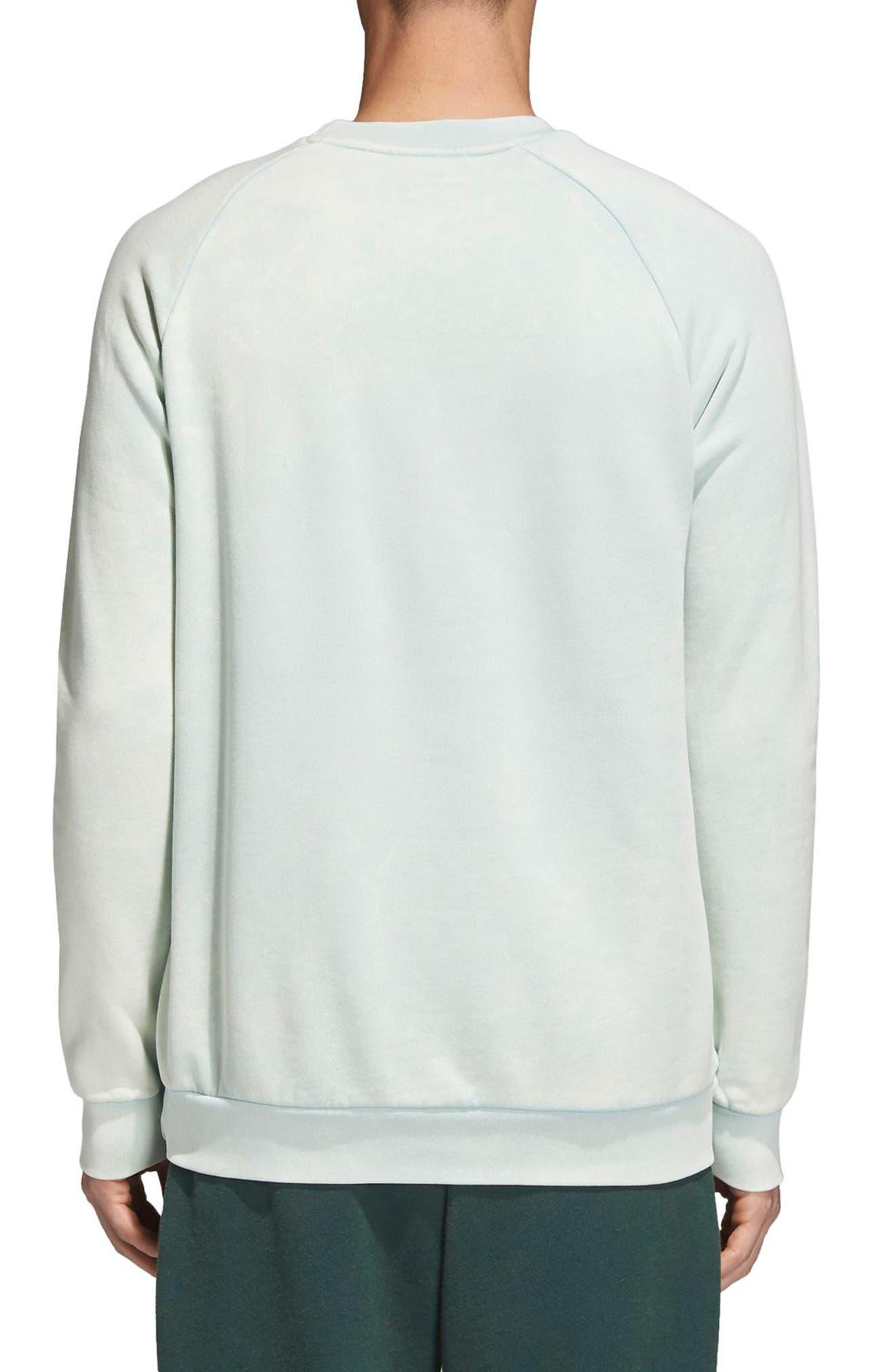 Trefoil Crewneck Sweatshirt,                             Alternate thumbnail 2, color,                             Ash Green