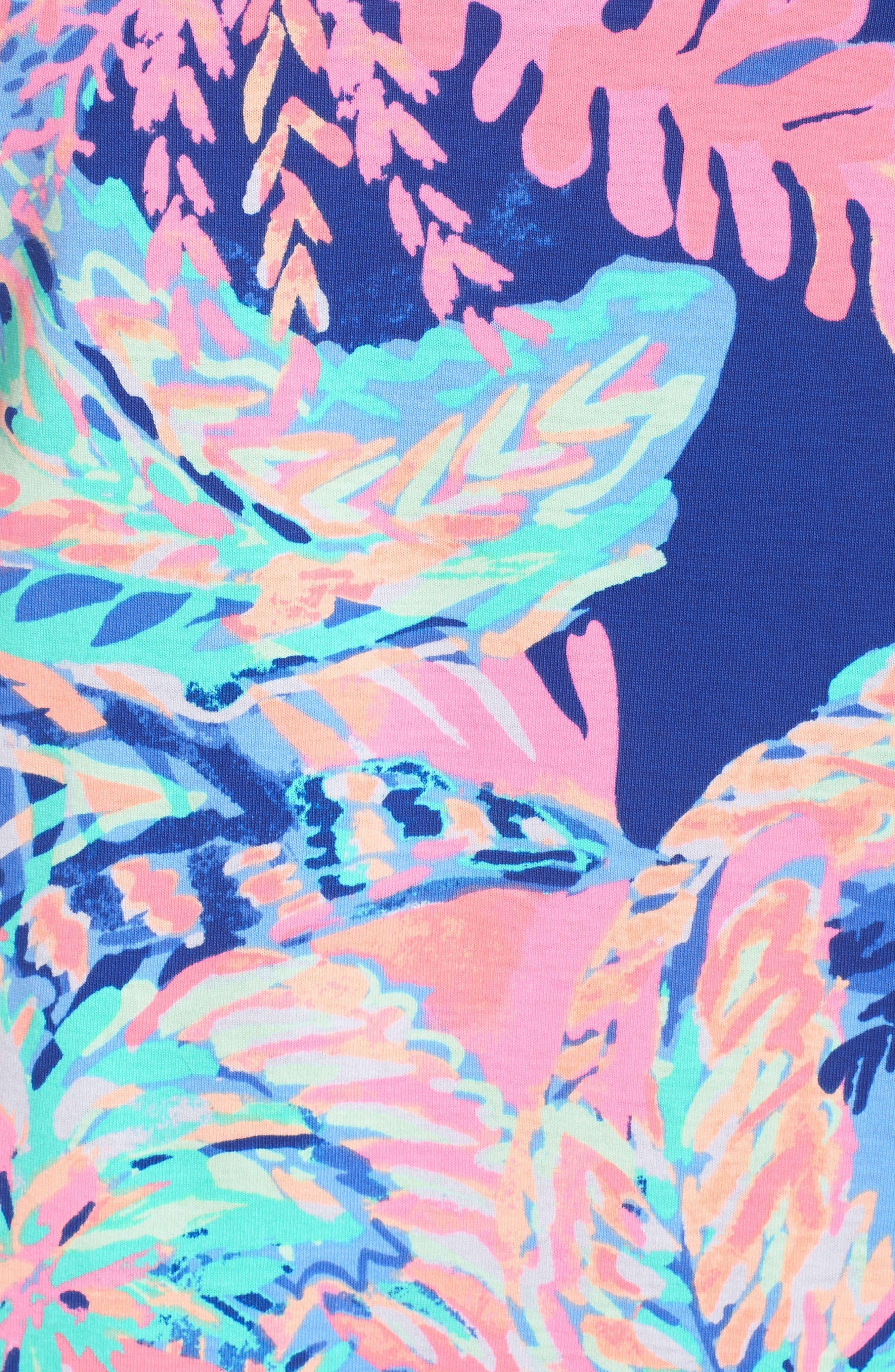 Bay Shift Dress,                             Alternate thumbnail 5, color,                             Multi Sunset Safari Engineered