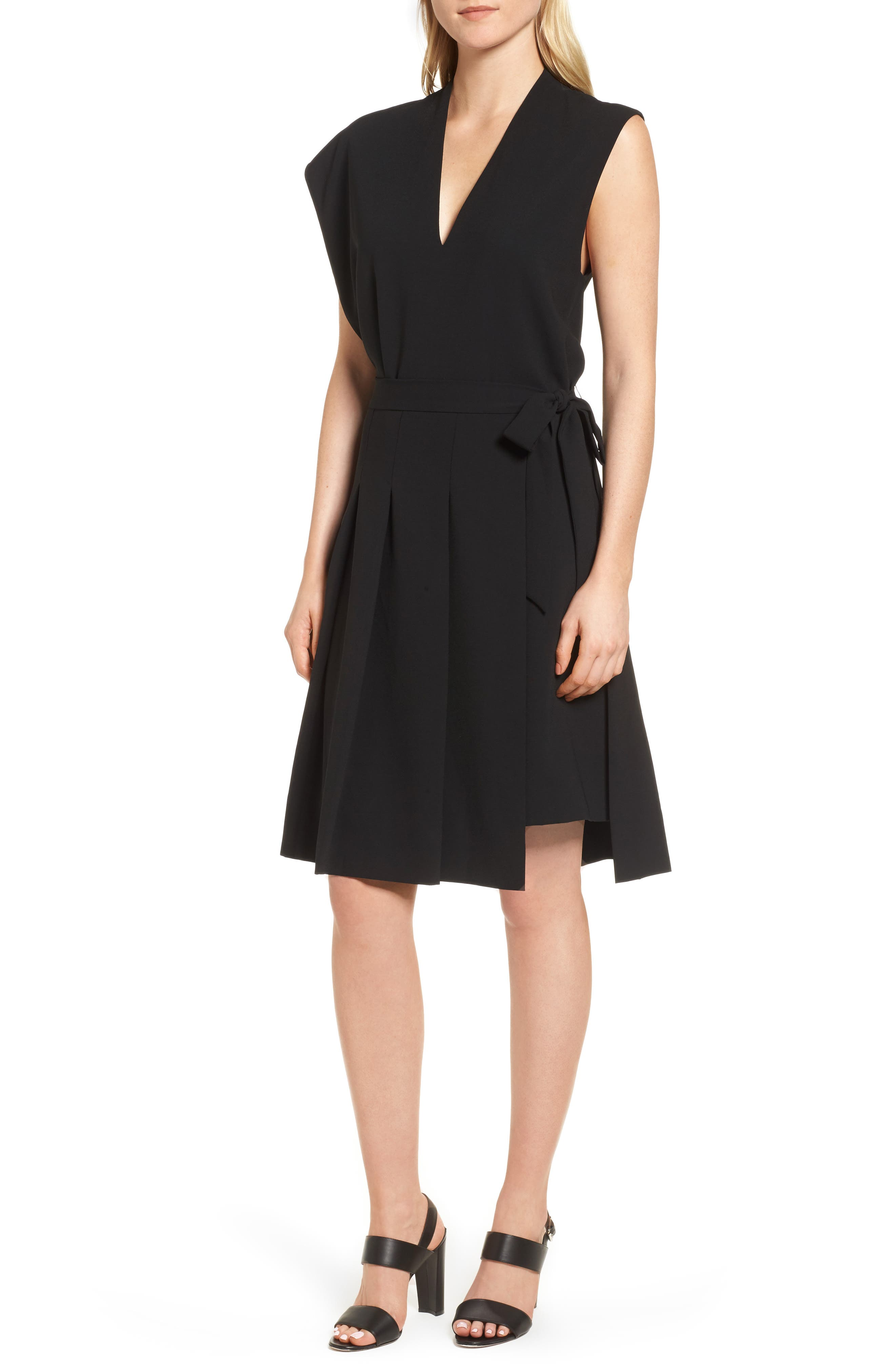 Lewit Asymmetrical Pleated Dress