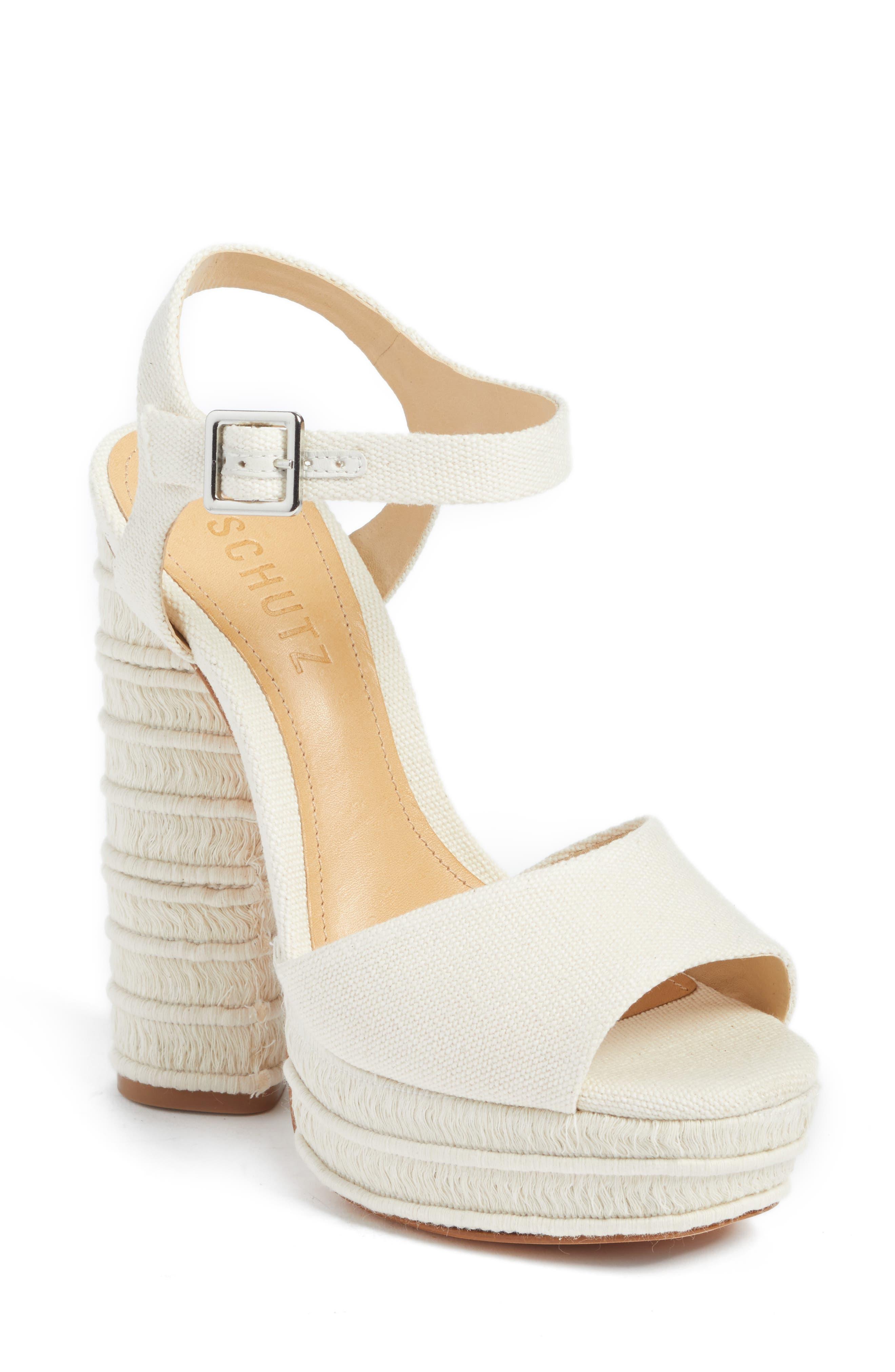 Jane Platform Sandal,                         Main,                         color, Cru
