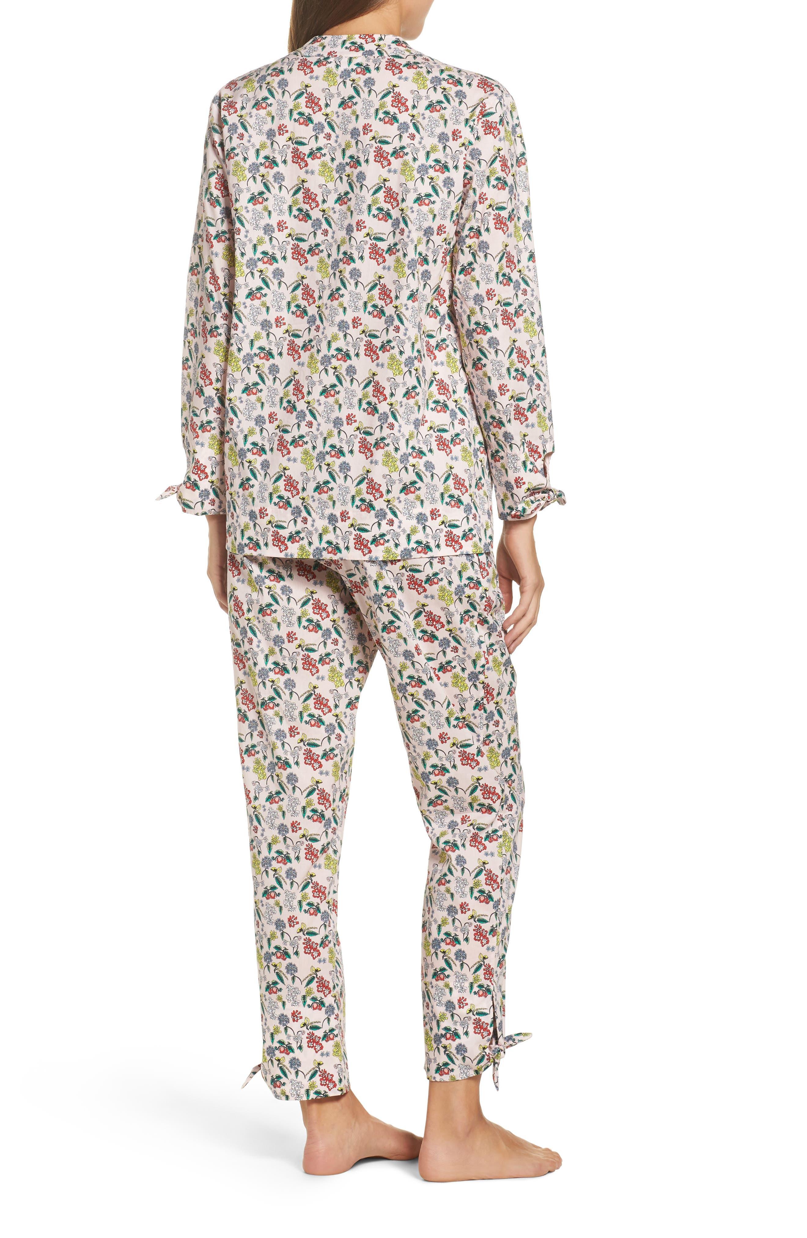 Alternate Image 2  - Yolke Print Cotton Poplin Pajamas