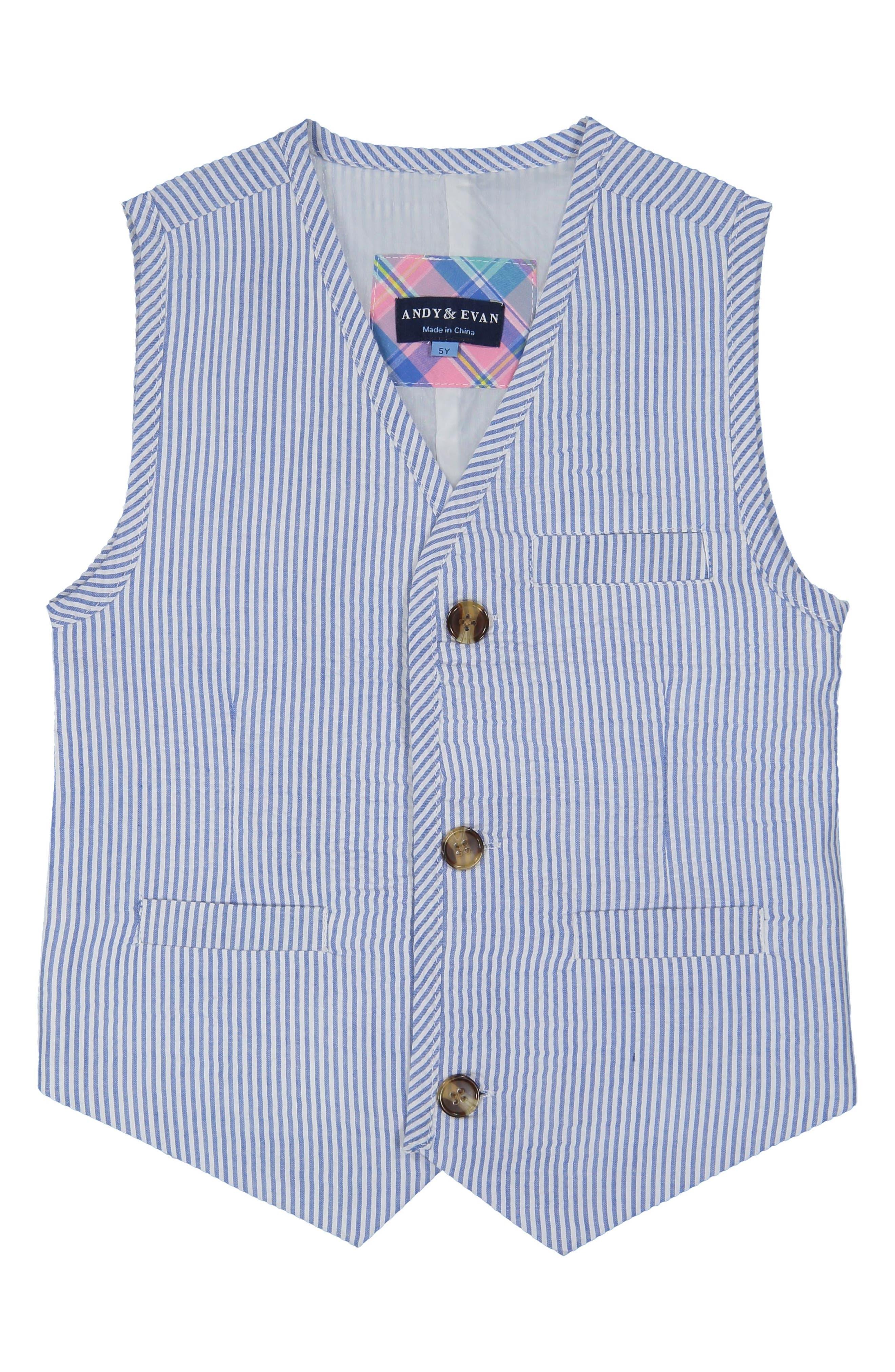 Romper, Vest & Pants Set,                             Alternate thumbnail 2, color,                             Light Blue