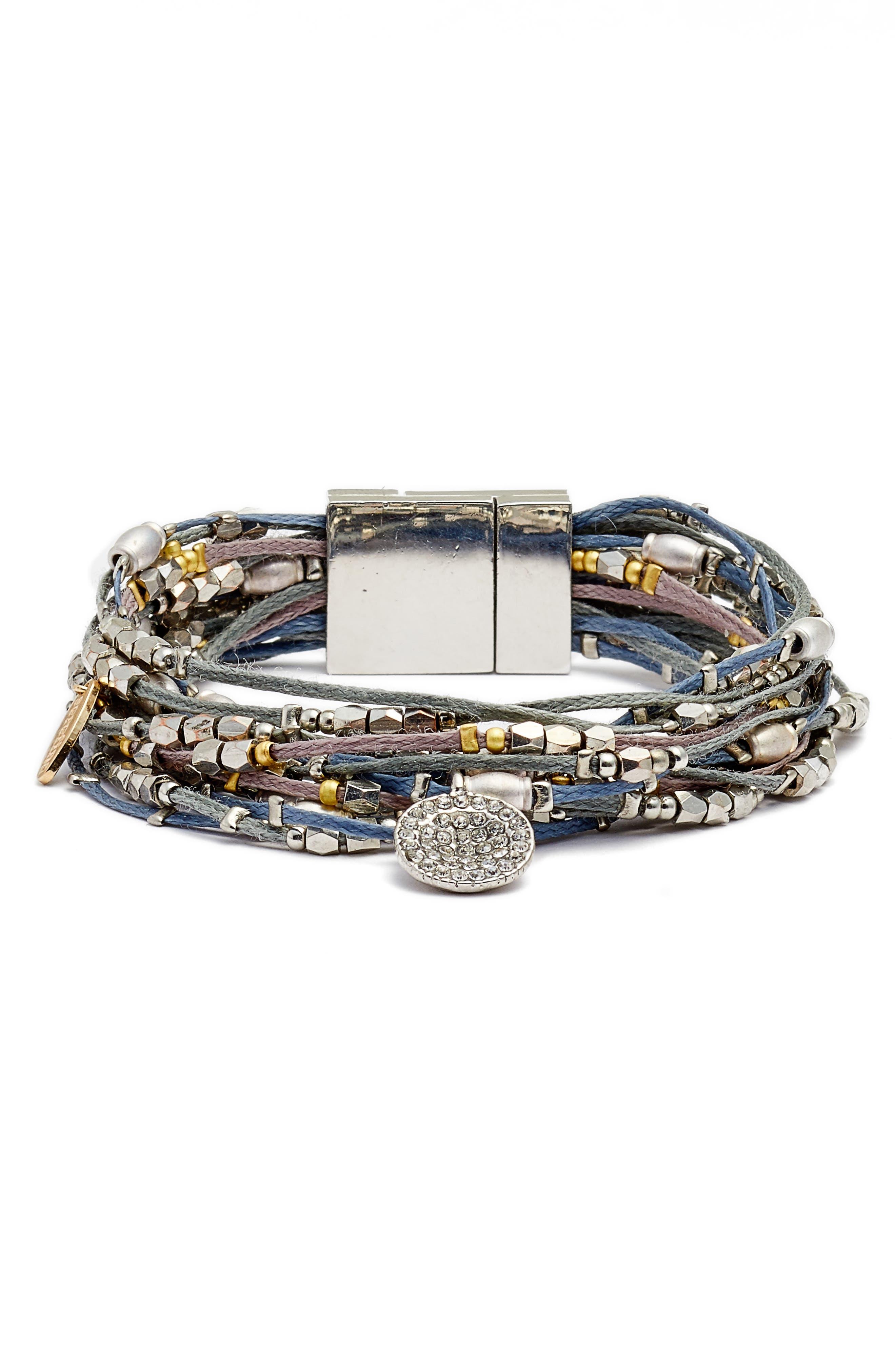 Beaded Bracelet,                         Main,                         color, Slate