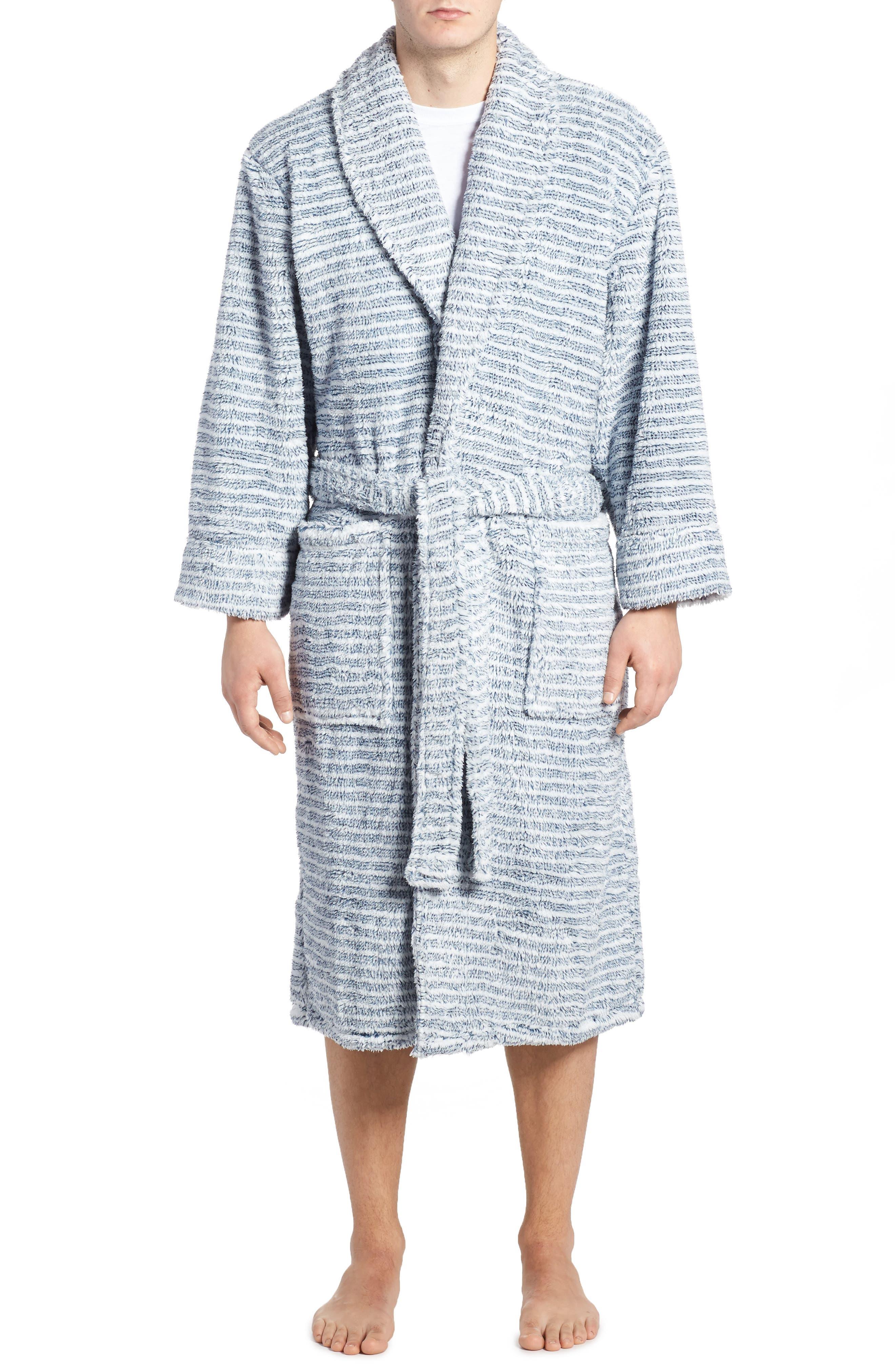 Daniel Buchler Triple Stripe Fleece Robe
