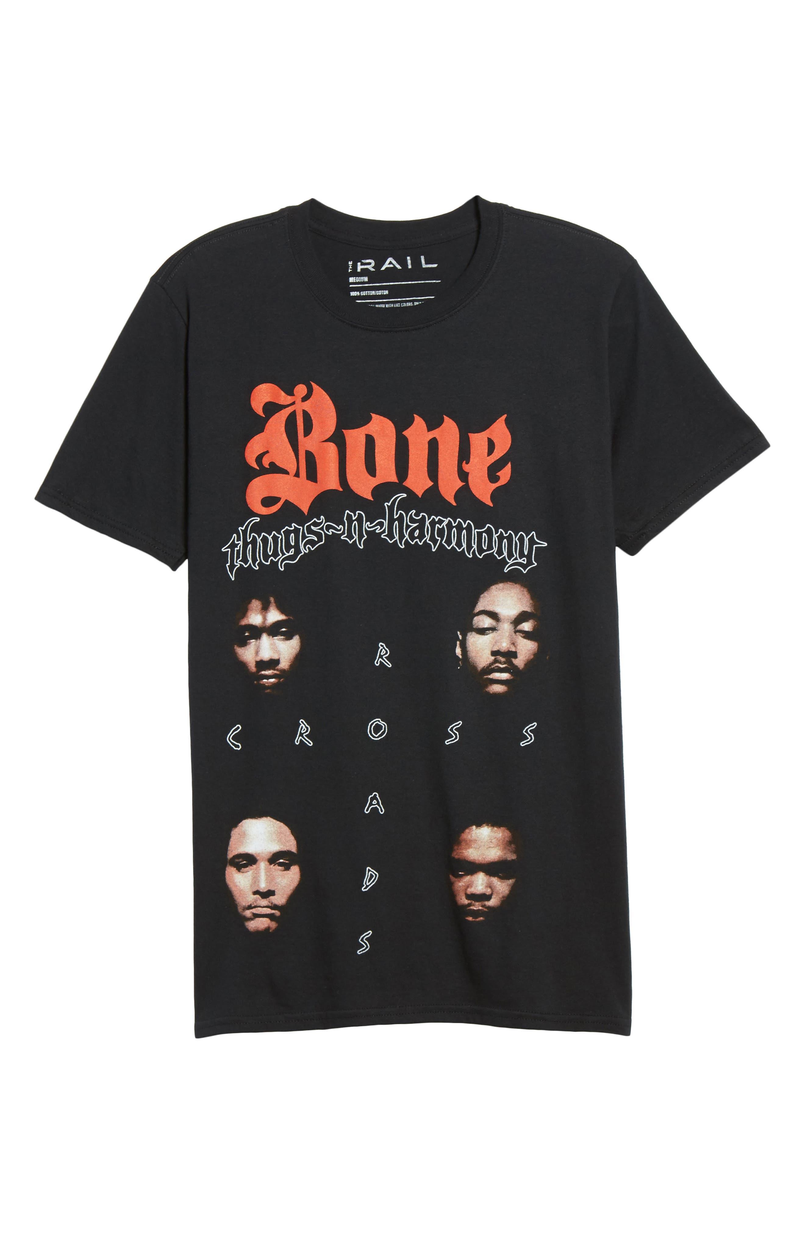 Bone Thugs-n-Harmony T-Shirt,                             Alternate thumbnail 6, color,                             Black Tee Bone Thugs
