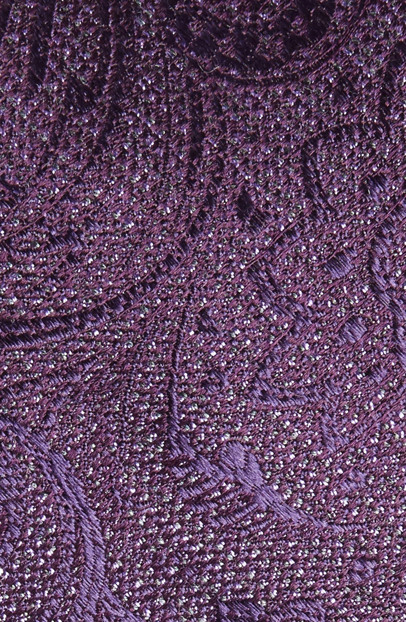 Hawkins Botanical Silk Tie,                             Alternate thumbnail 2, color,                             Purple