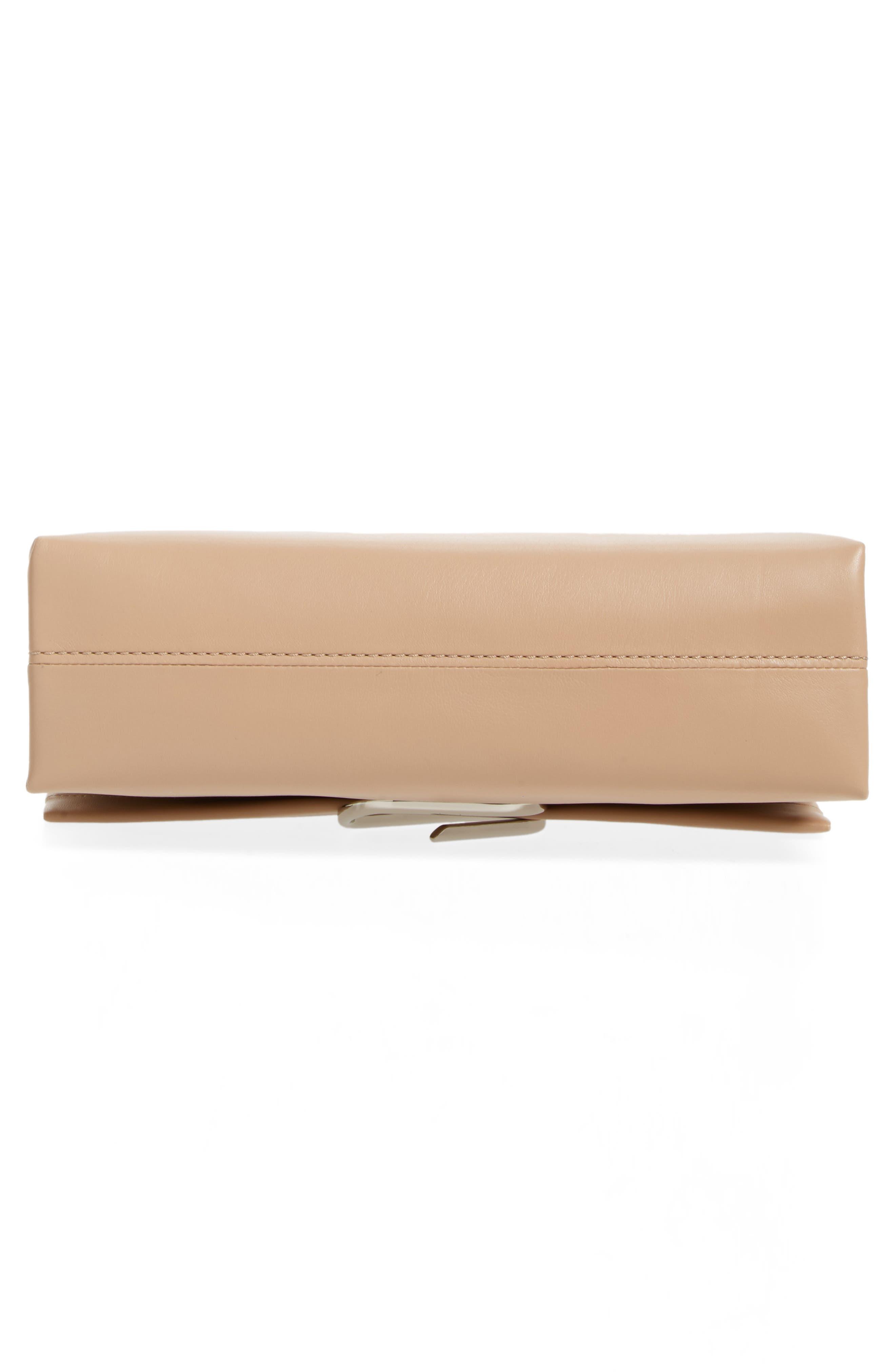 Oversized Alix Flap Leather Shoulder Bag,                             Alternate thumbnail 6, color,                             Fawn