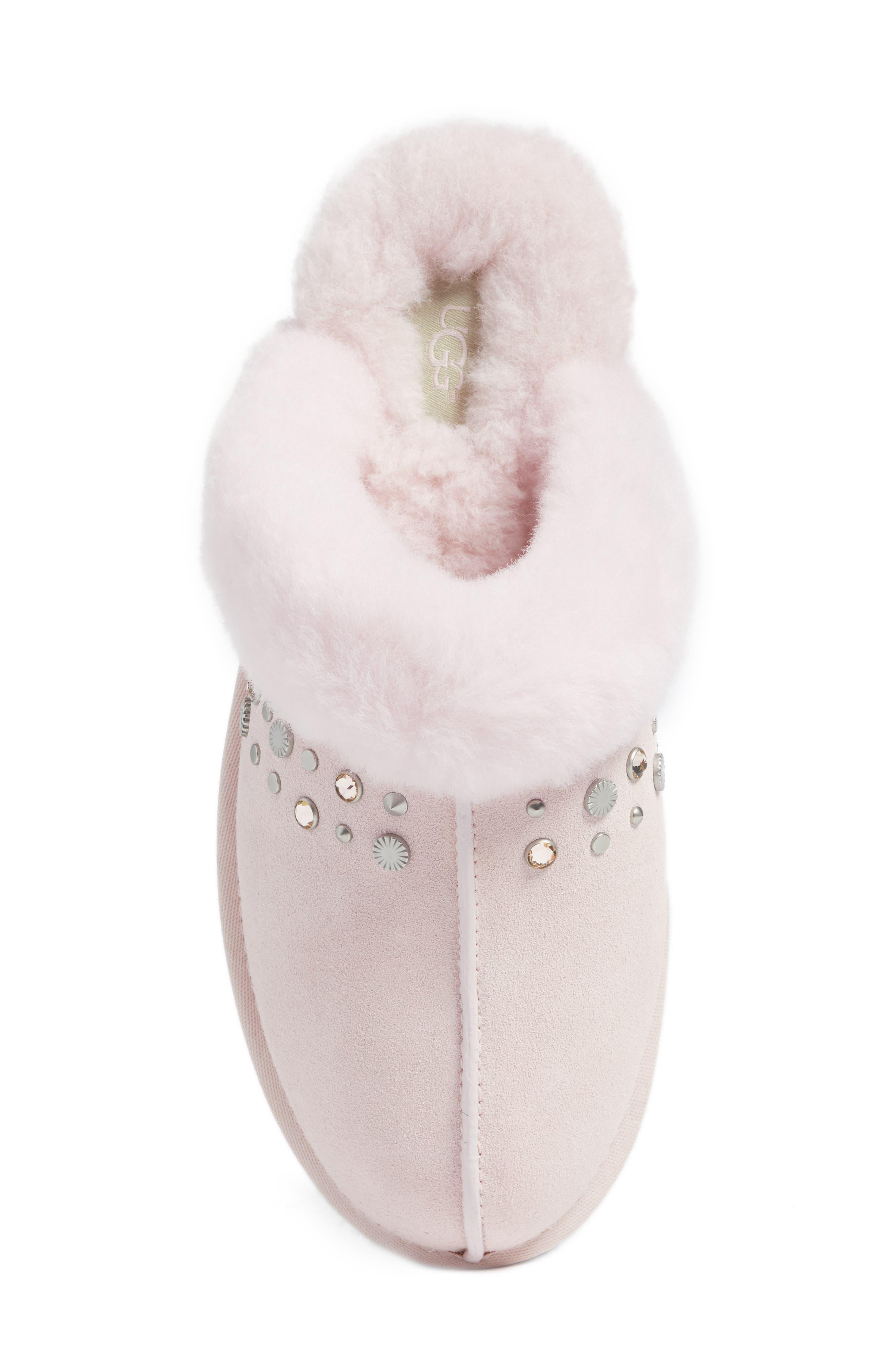 Scuffette II Studded Slipper,                             Alternate thumbnail 6, color,                             Seashell Pink