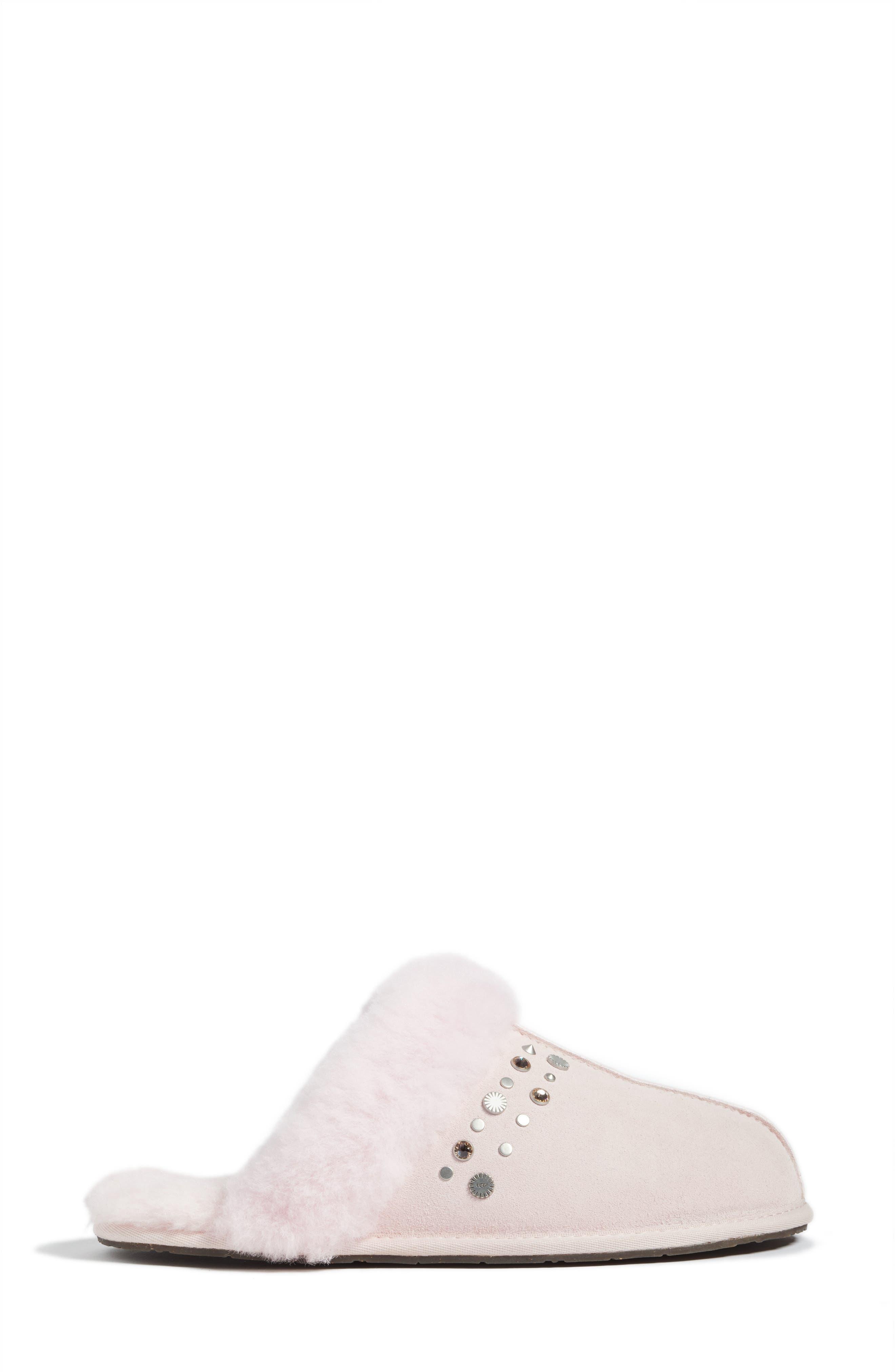 Scuffette II Studded Slipper,                             Alternate thumbnail 4, color,                             Seashell Pink