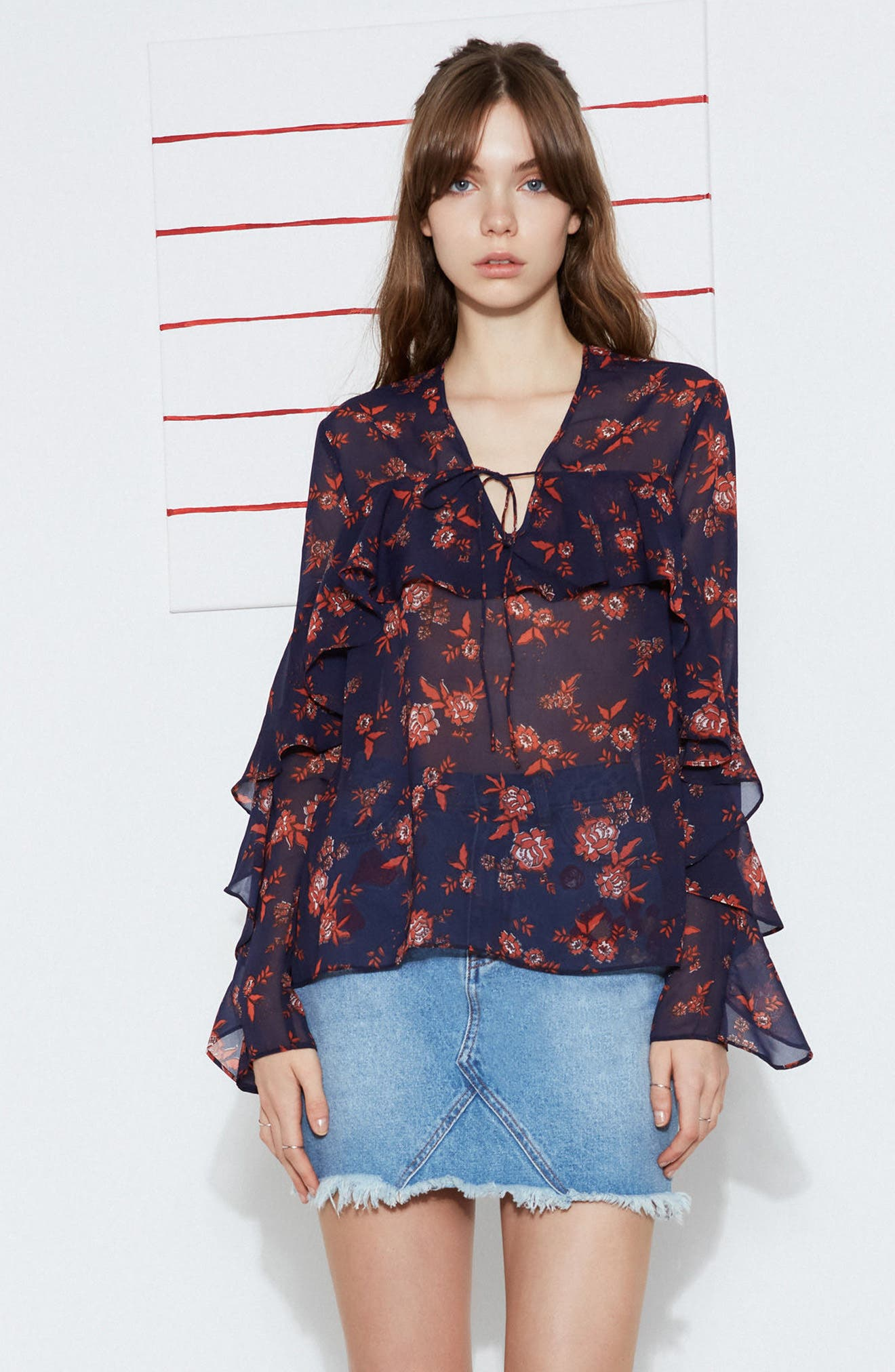 Alternate Image 7  - The Fifth Label Capital Floral Blouse
