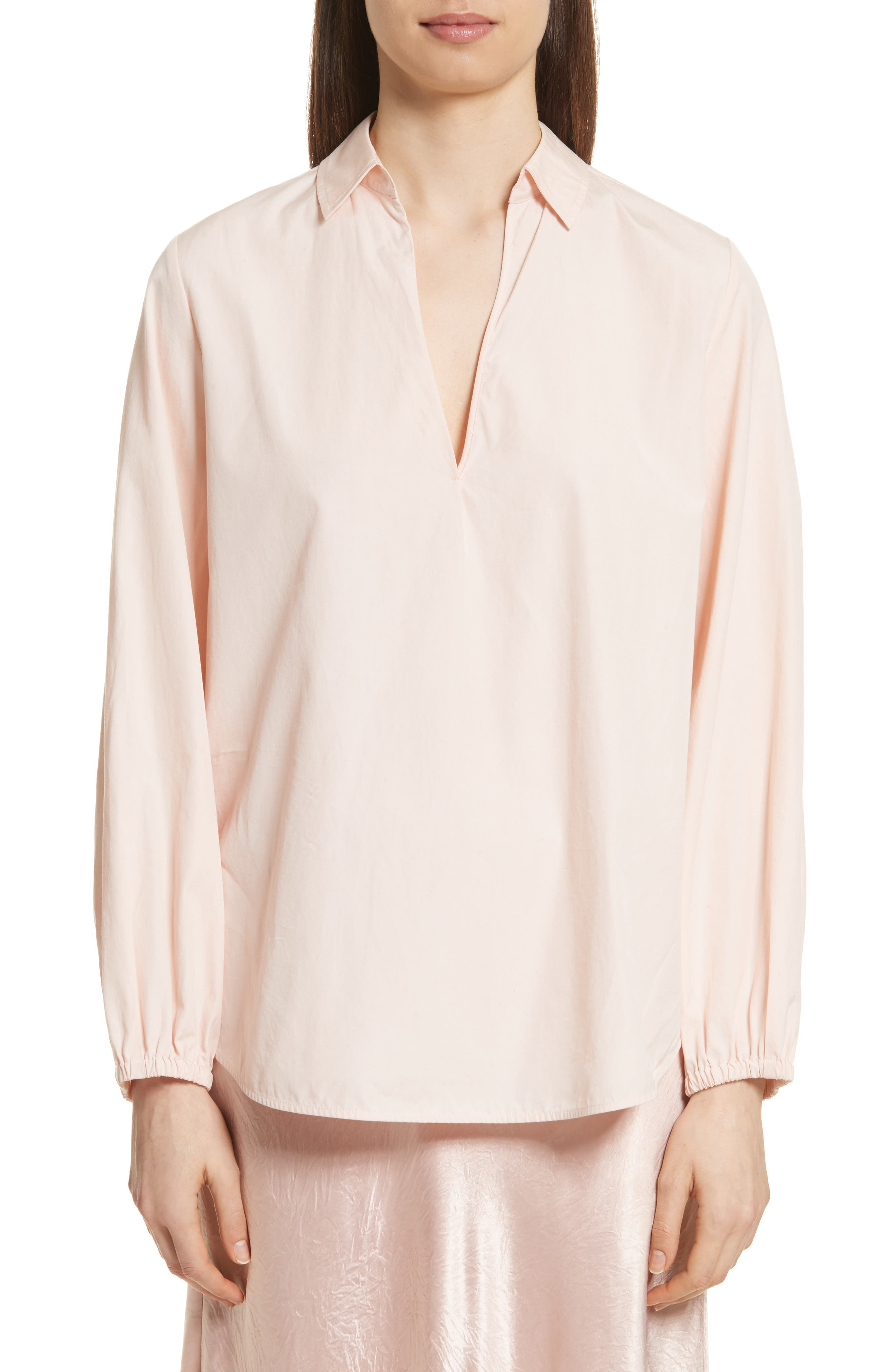 Vince  SWING FRONT PULLOVER SHIRT