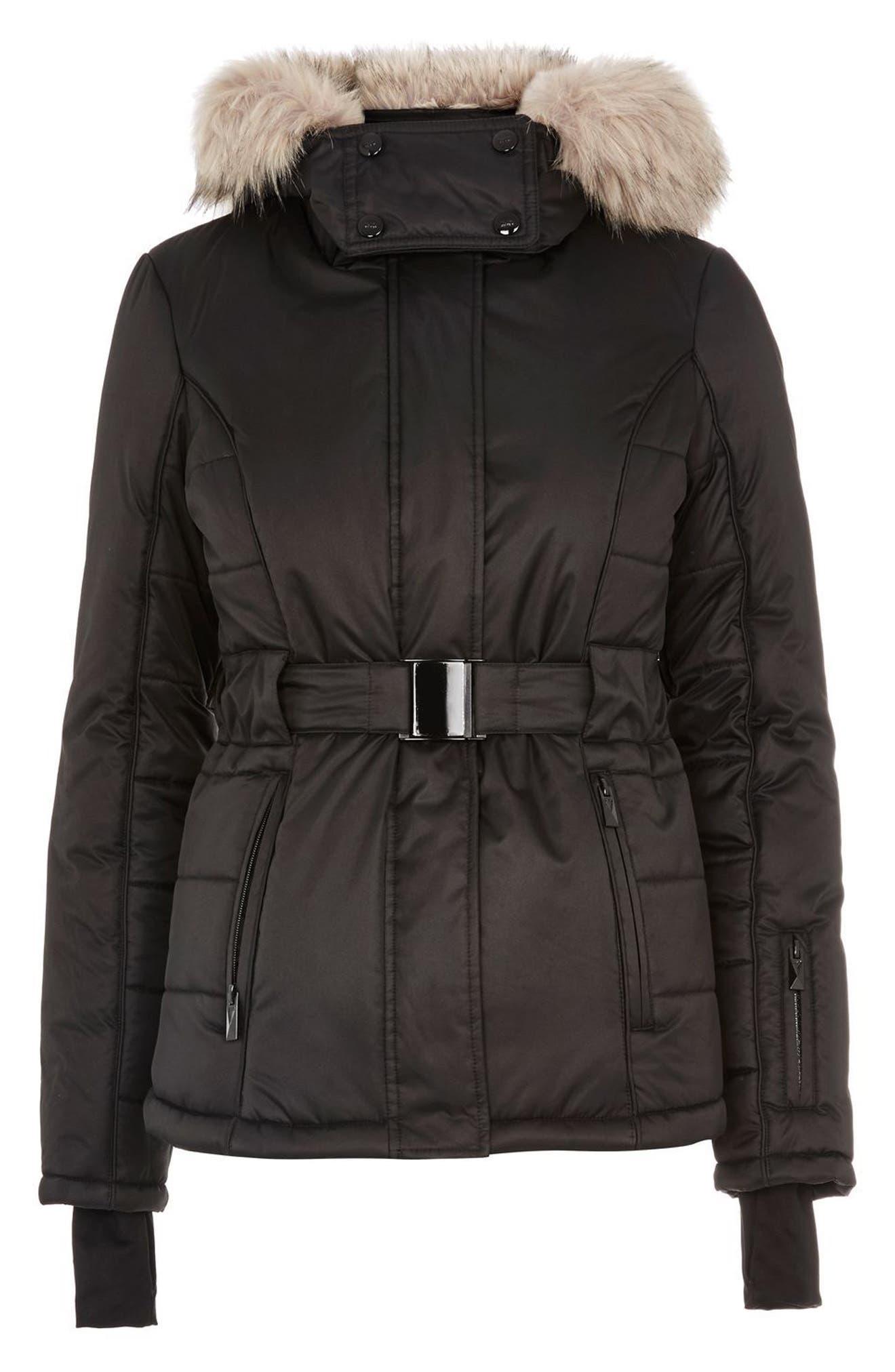 SNO Amazon Puffer Jacket,                             Alternate thumbnail 7, color,                             Black