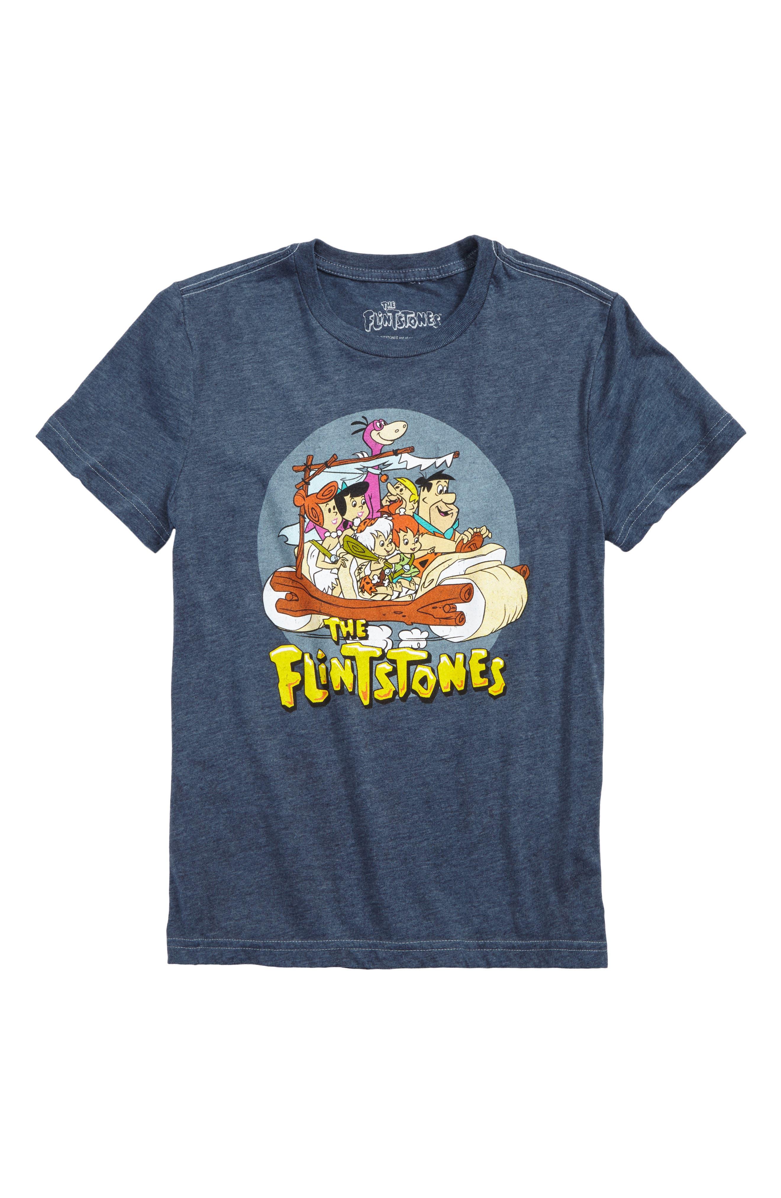 Flintstones Family Graphic T-Shirt,                         Main,                         color, Blue