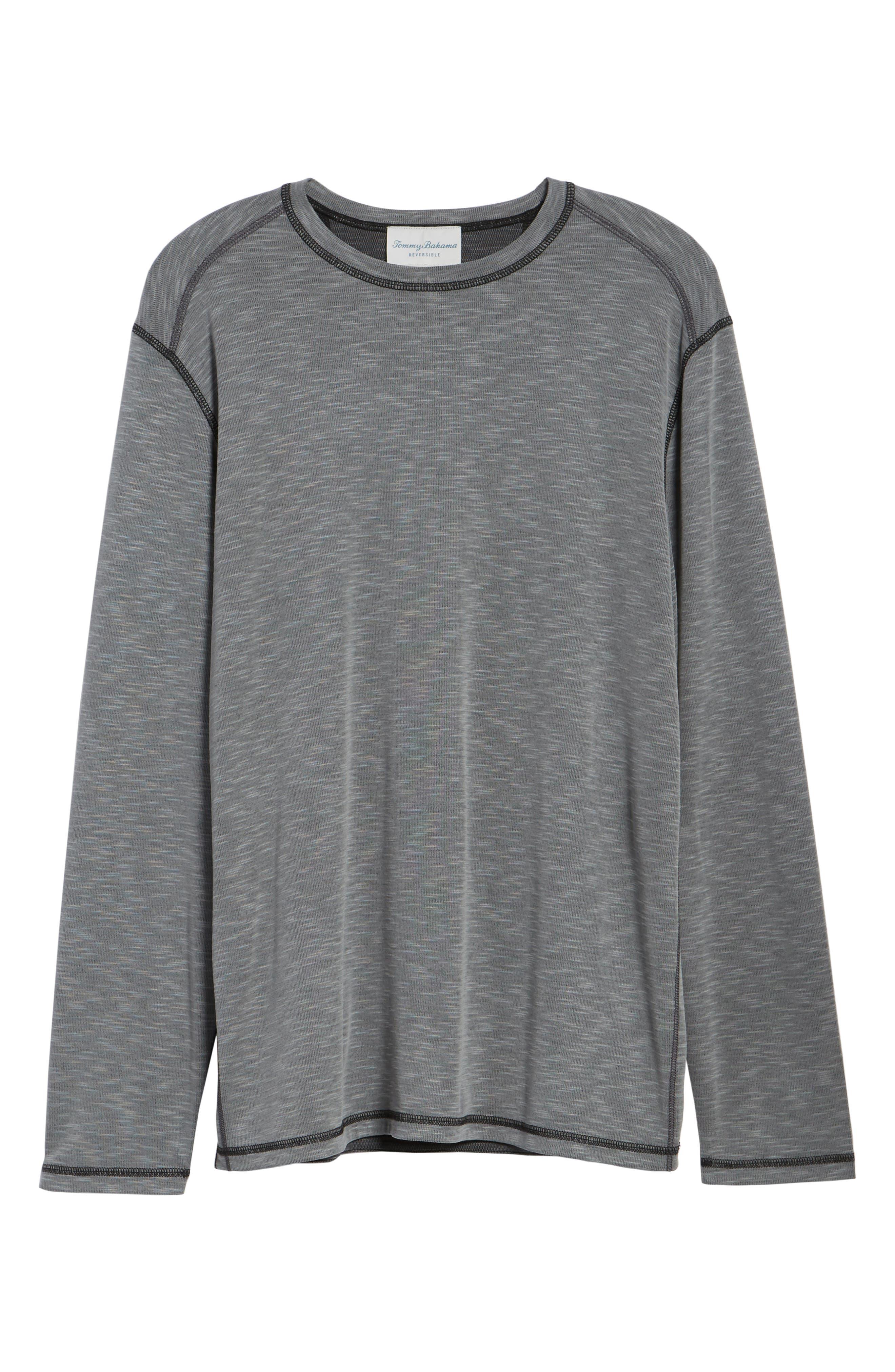Flip Tide Long Sleeve T-Shirt,                             Alternate thumbnail 7, color,                             Coal