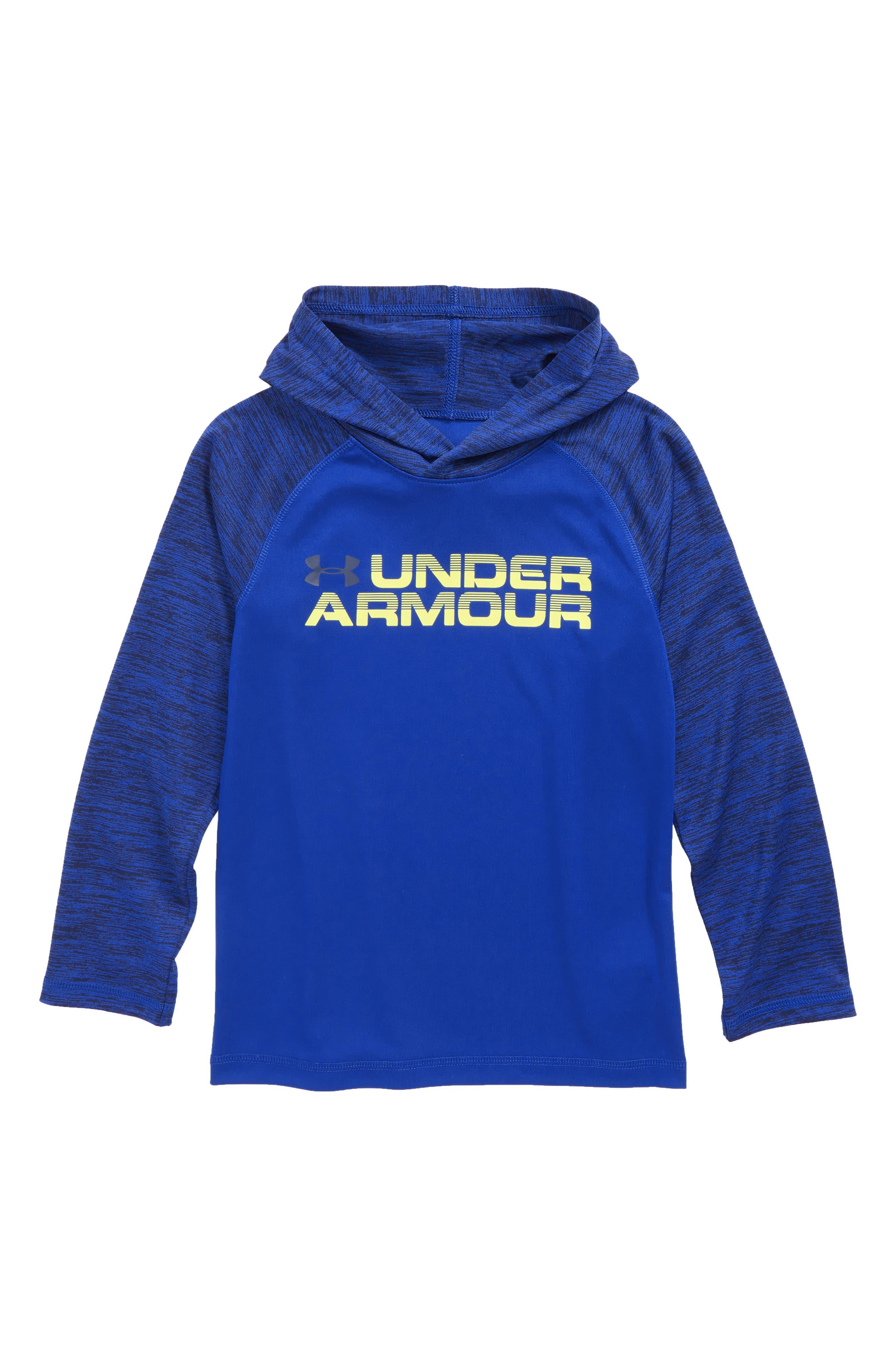 Main Image - Under Armour Wordmark Hooded T-Shirt (Toddler Boys & Little Boys)
