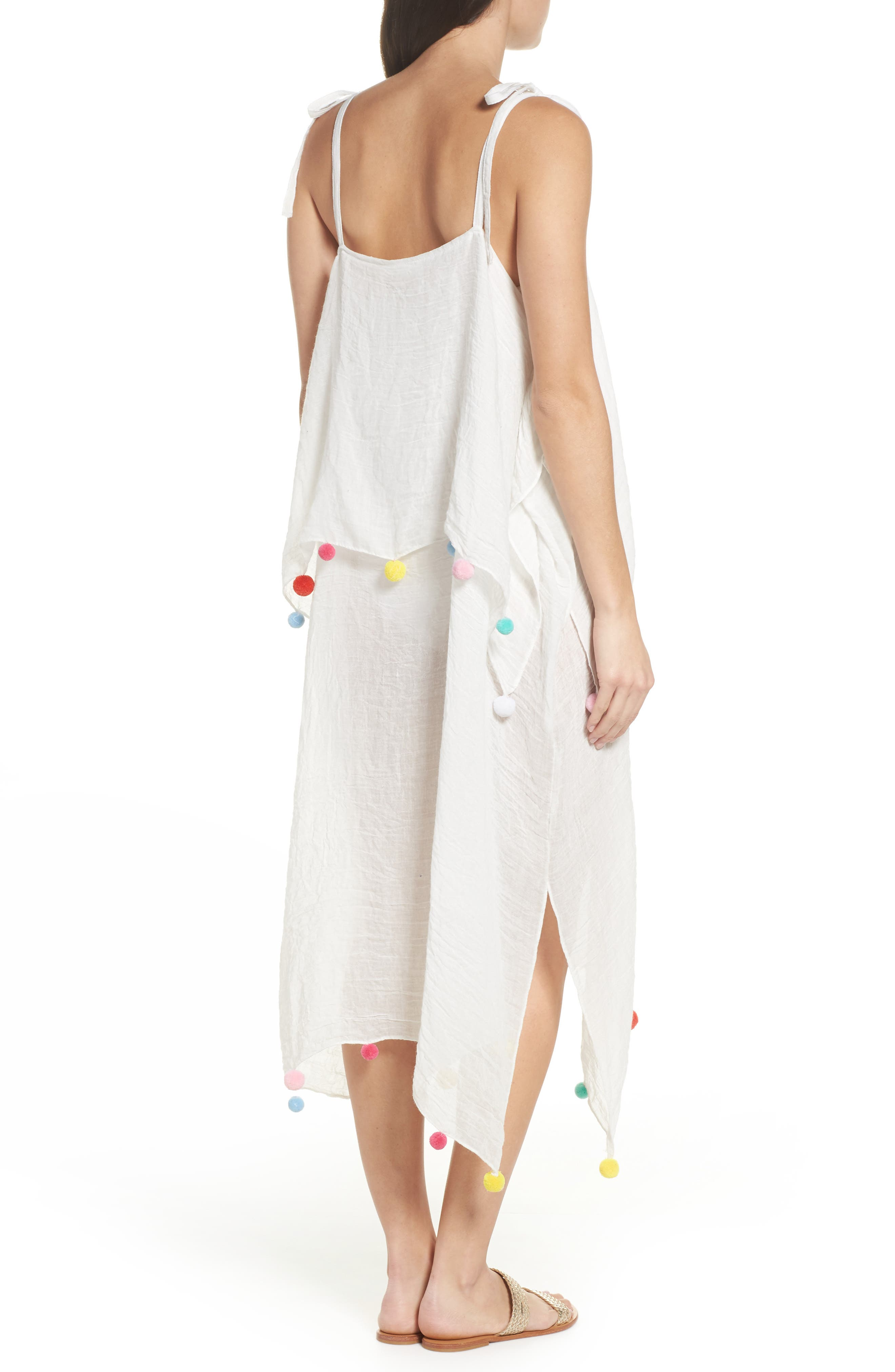 Day to Night Cover-Up Dress,                             Alternate thumbnail 2, color,                             White