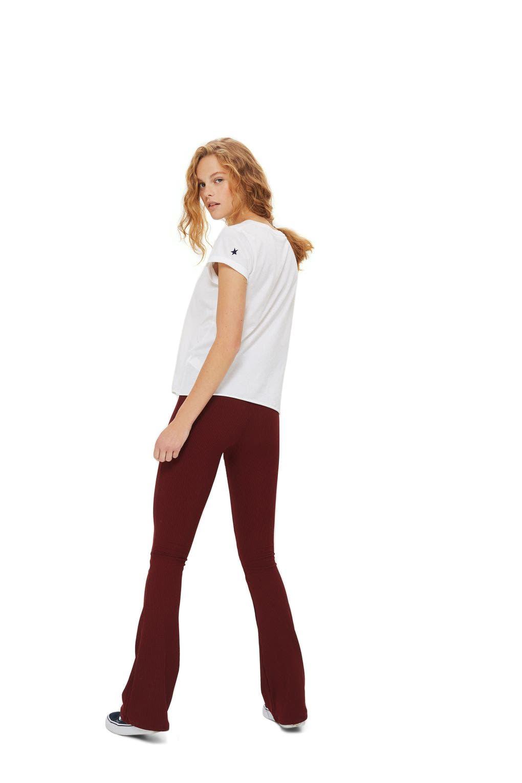 Ribbed Flare Pants,                             Alternate thumbnail 2, color,                             Burgundy