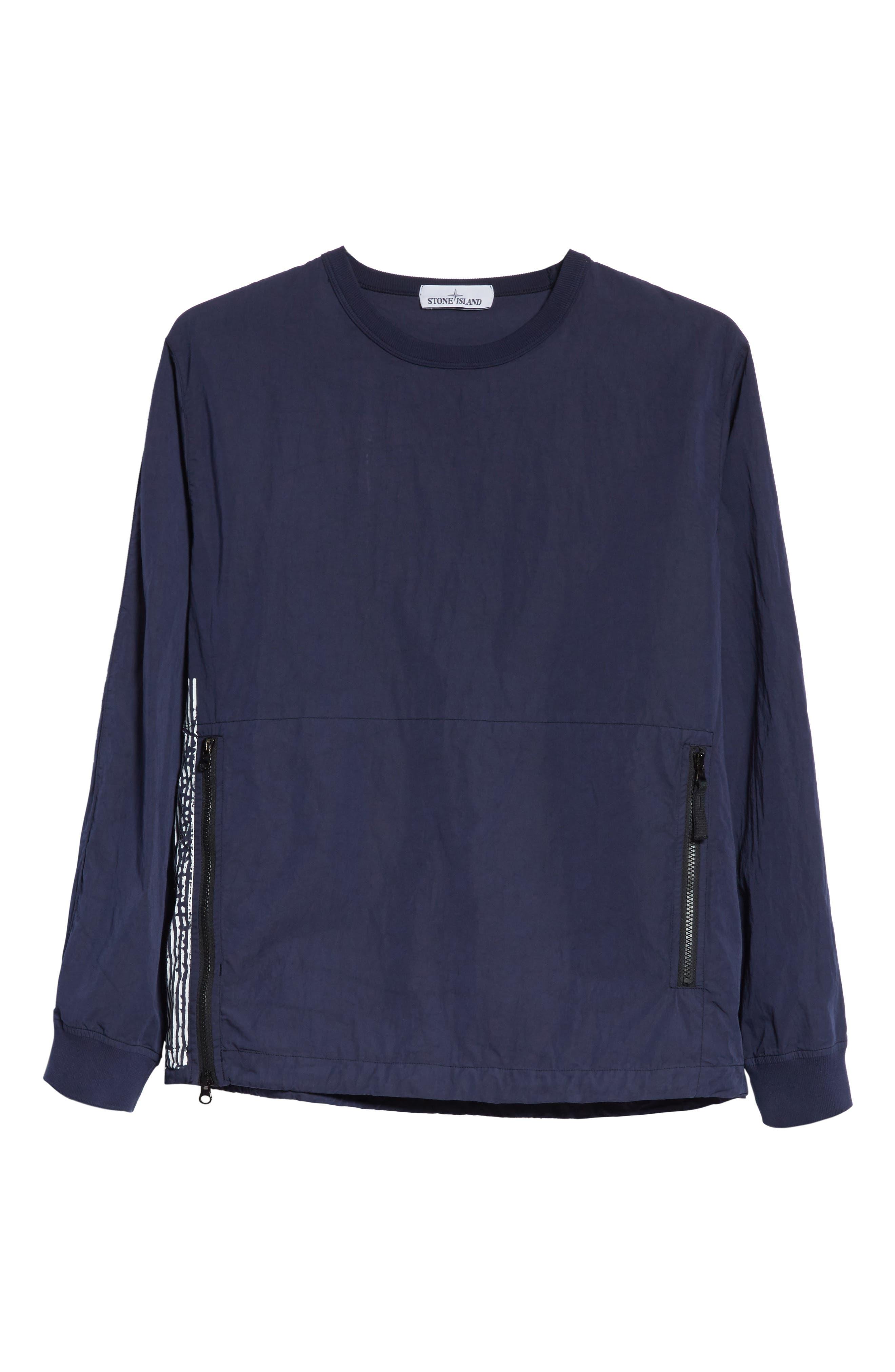 Marina Stripe Sweatshirt,                             Alternate thumbnail 6, color,                             Blue