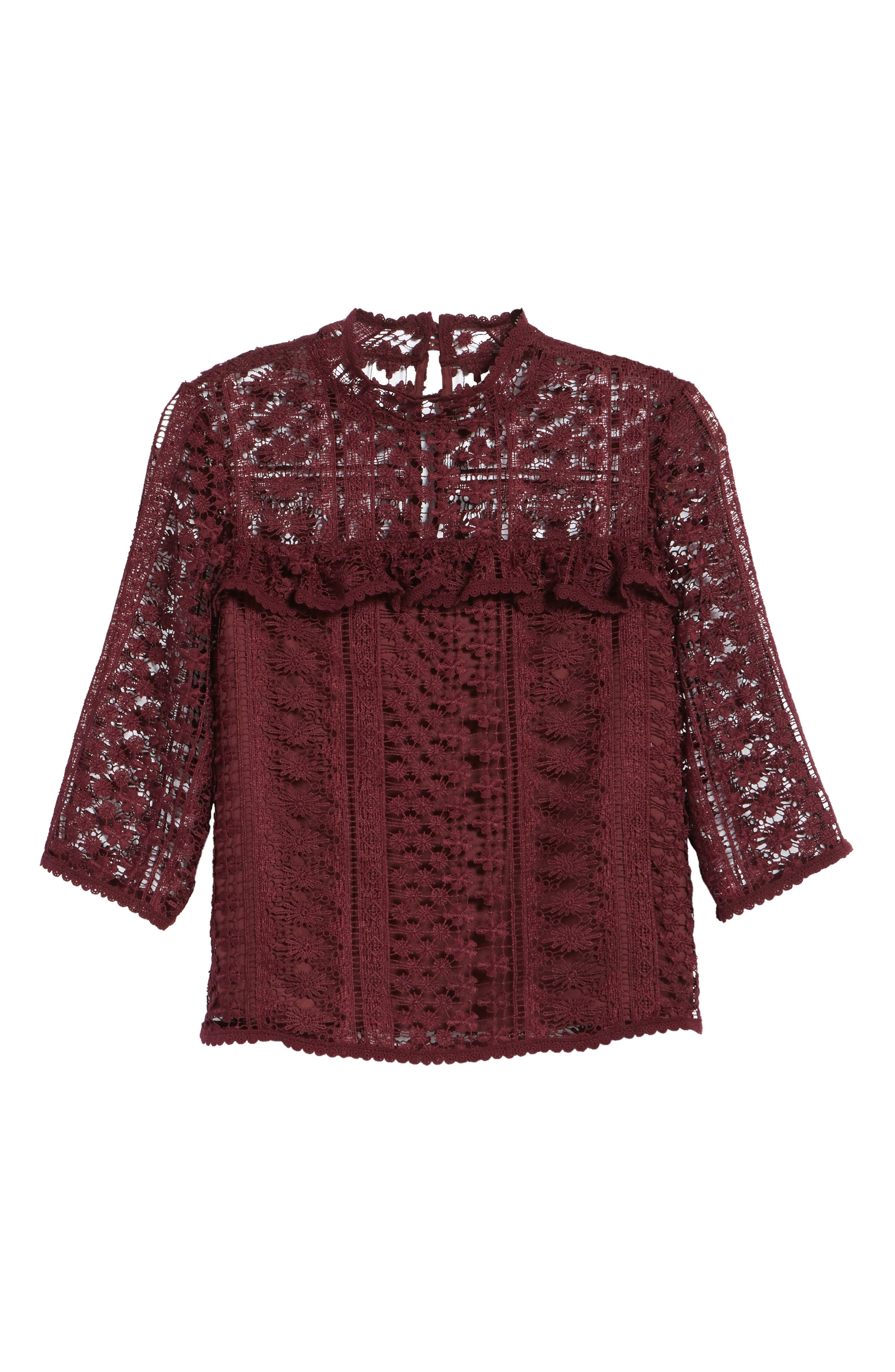 Alternate Image 6  - cupcakes and cashmere Kebecka Lace Top