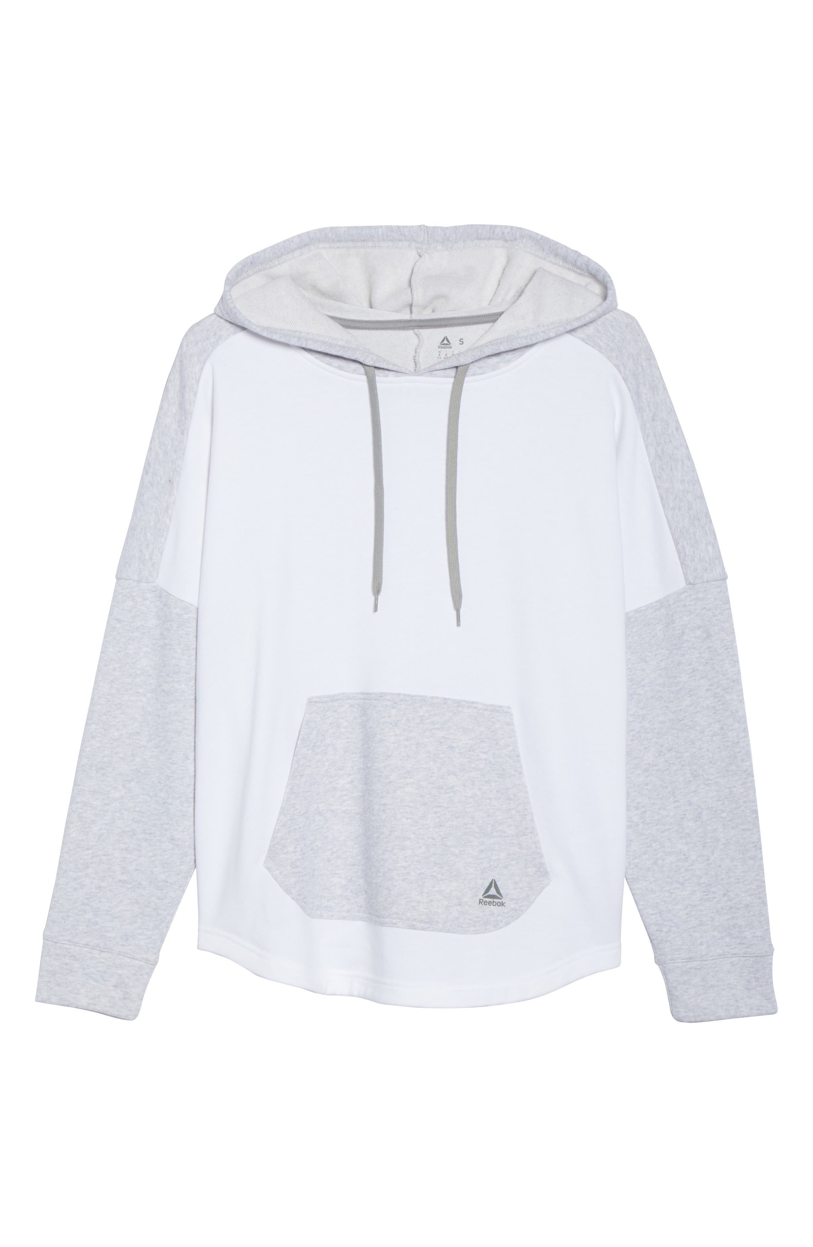 French Terry Tunic Hoodie,                             Alternate thumbnail 7, color,                             Light Grey Heather